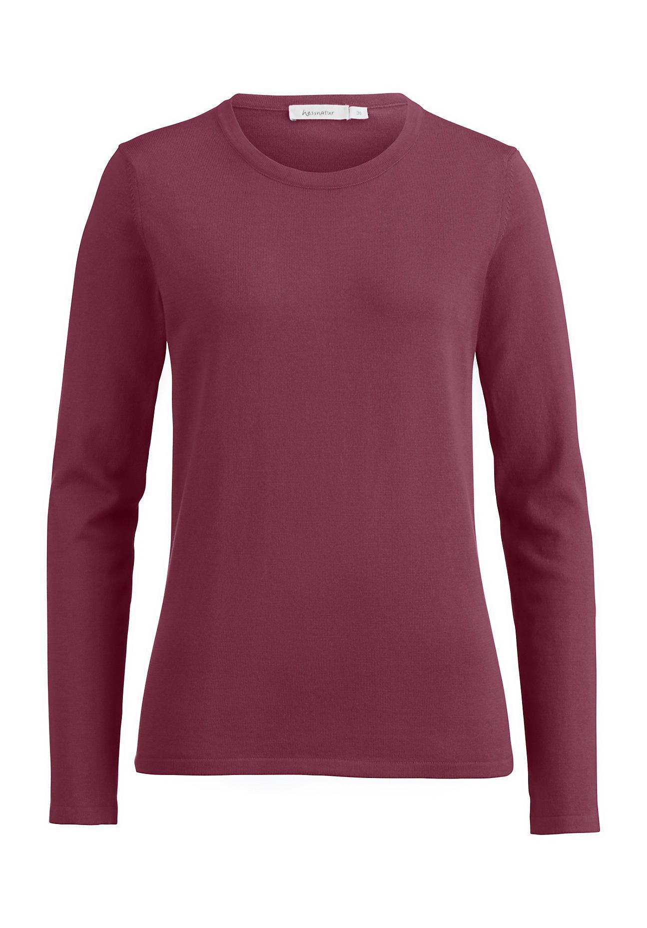 hessnatur -  Damen Pullover aus Bio-Baumwolle – lila – Größe 34