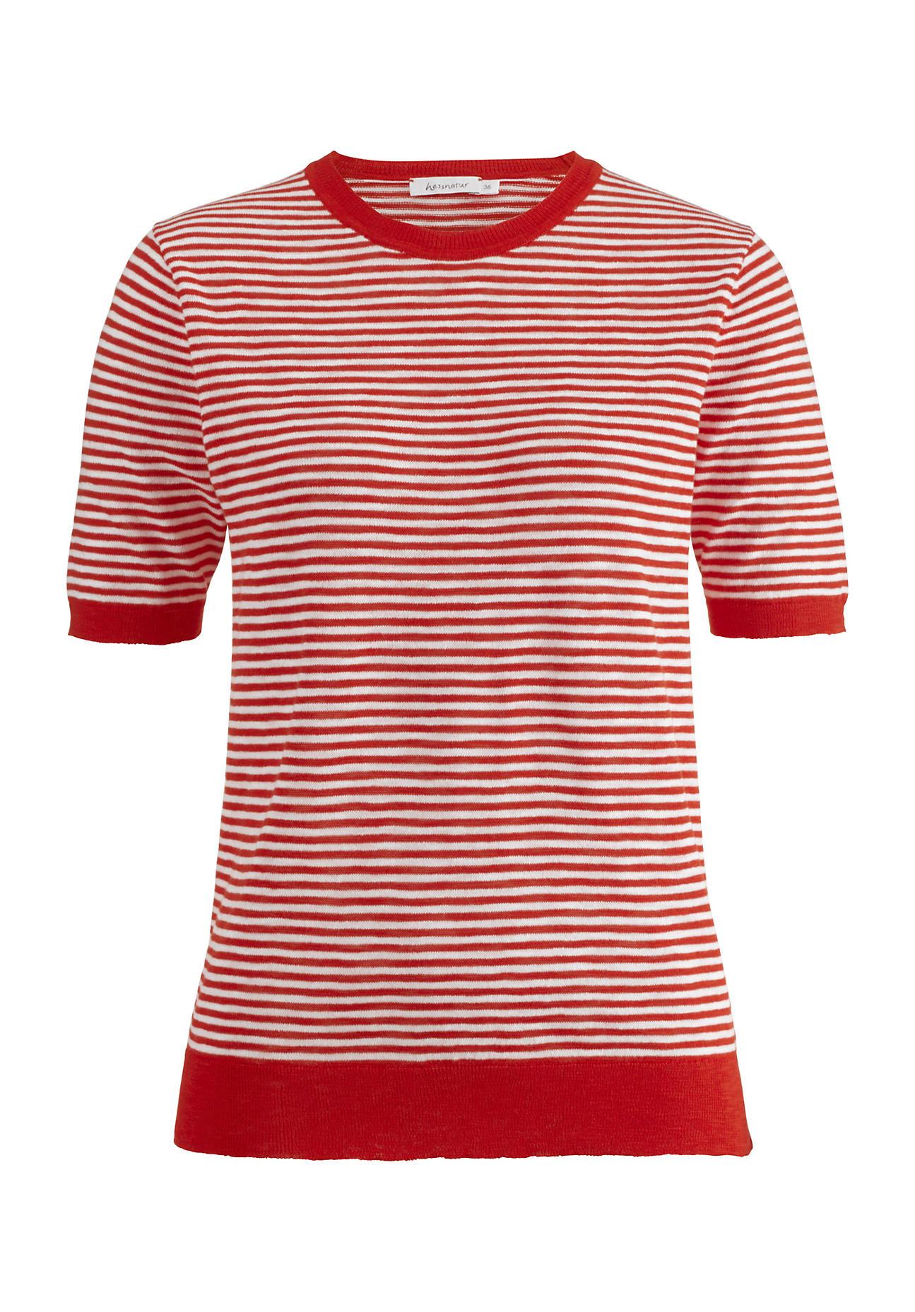 hessnatur -  Damen Pullover aus Bio-Baumwolle – rot – Größe 40