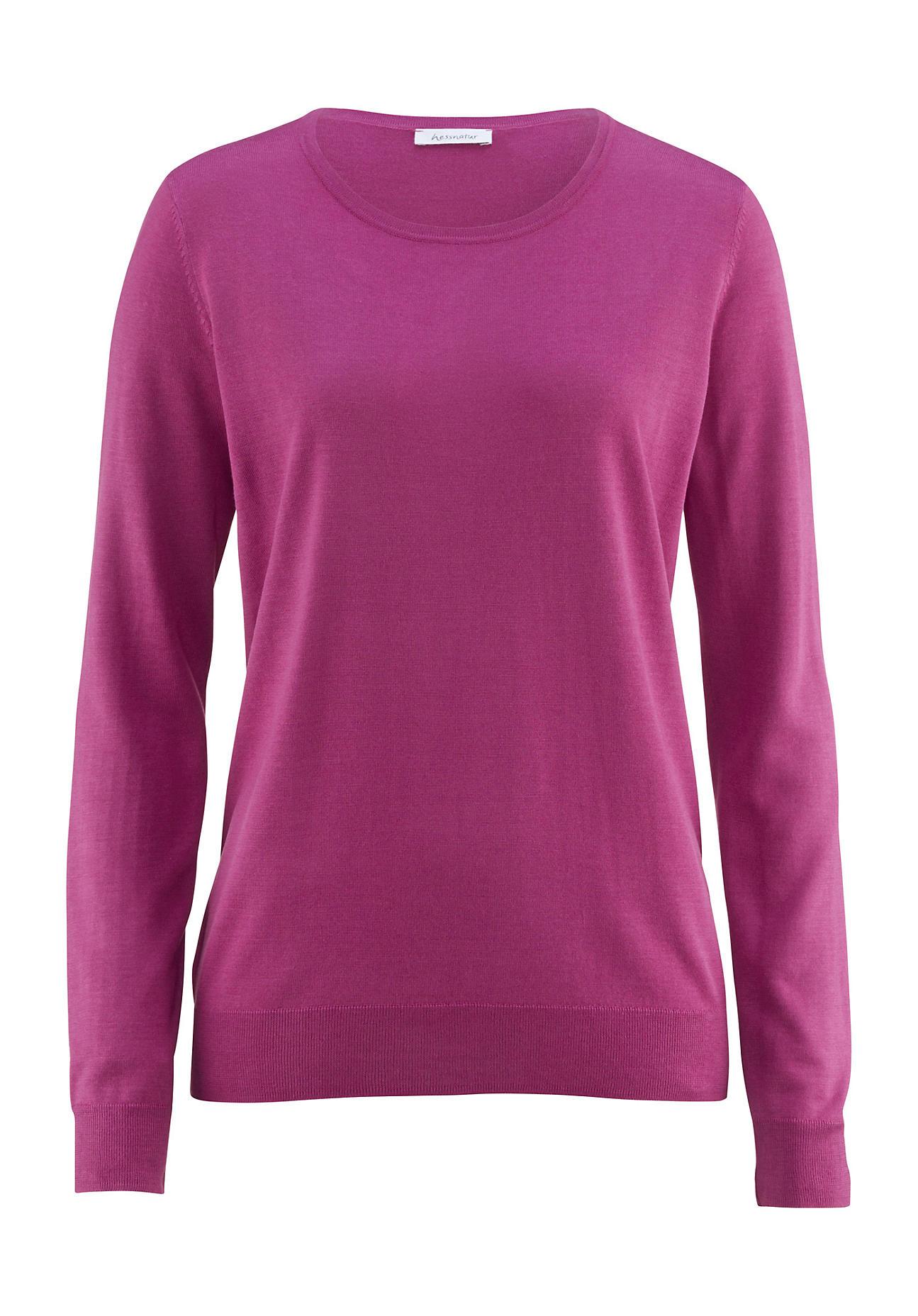 hessnatur Damen Pullover aus Bio Seide – lila – Größe 38