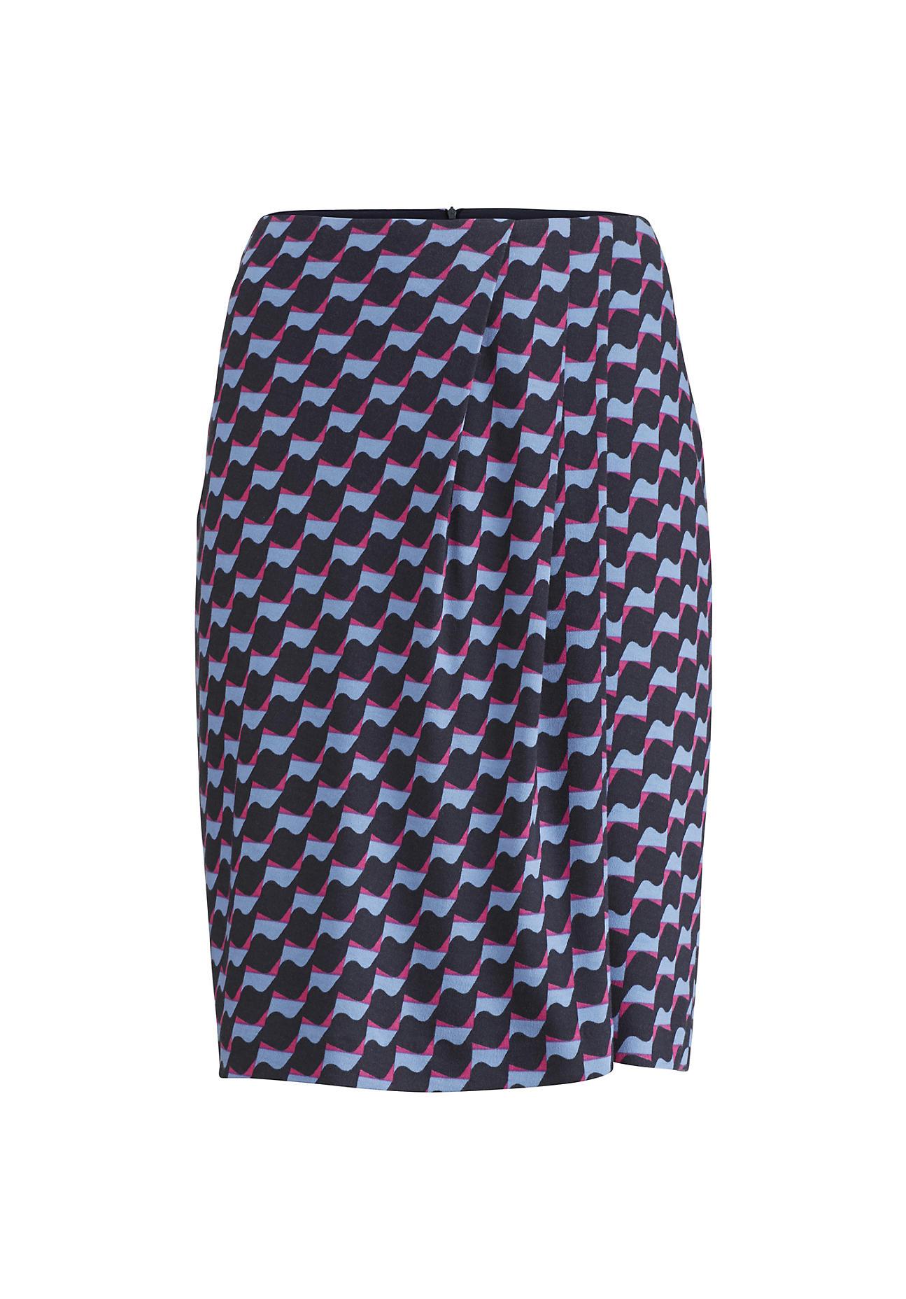 hessnatur Damen Rock aus Bio Baumwolle und Modal – blau – Größe 38