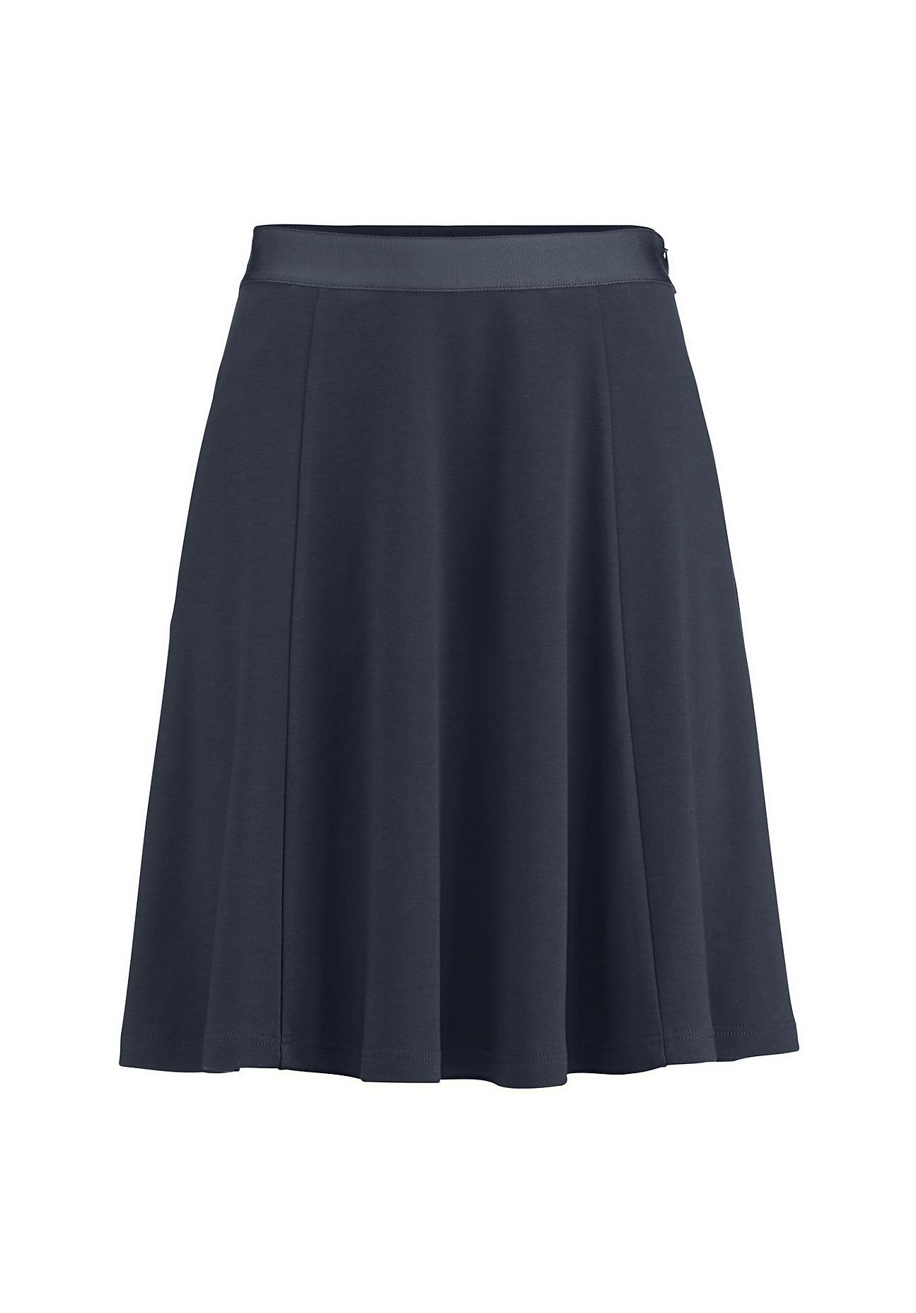 Roecke für Frauen - hessnatur Damen Rock aus Bio Baumwolle – blau –  - Onlineshop Hessnatur