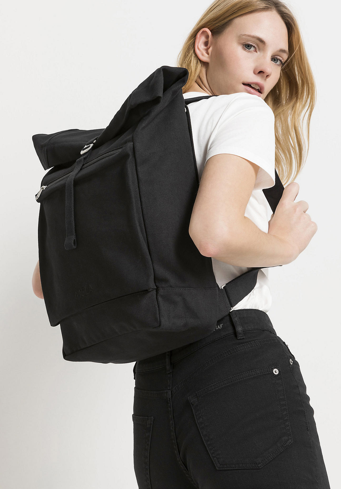hessnatur Unisexaccessoires Rucksack Amar aus Bio-Baumwolle - schwarz Größe 1size
