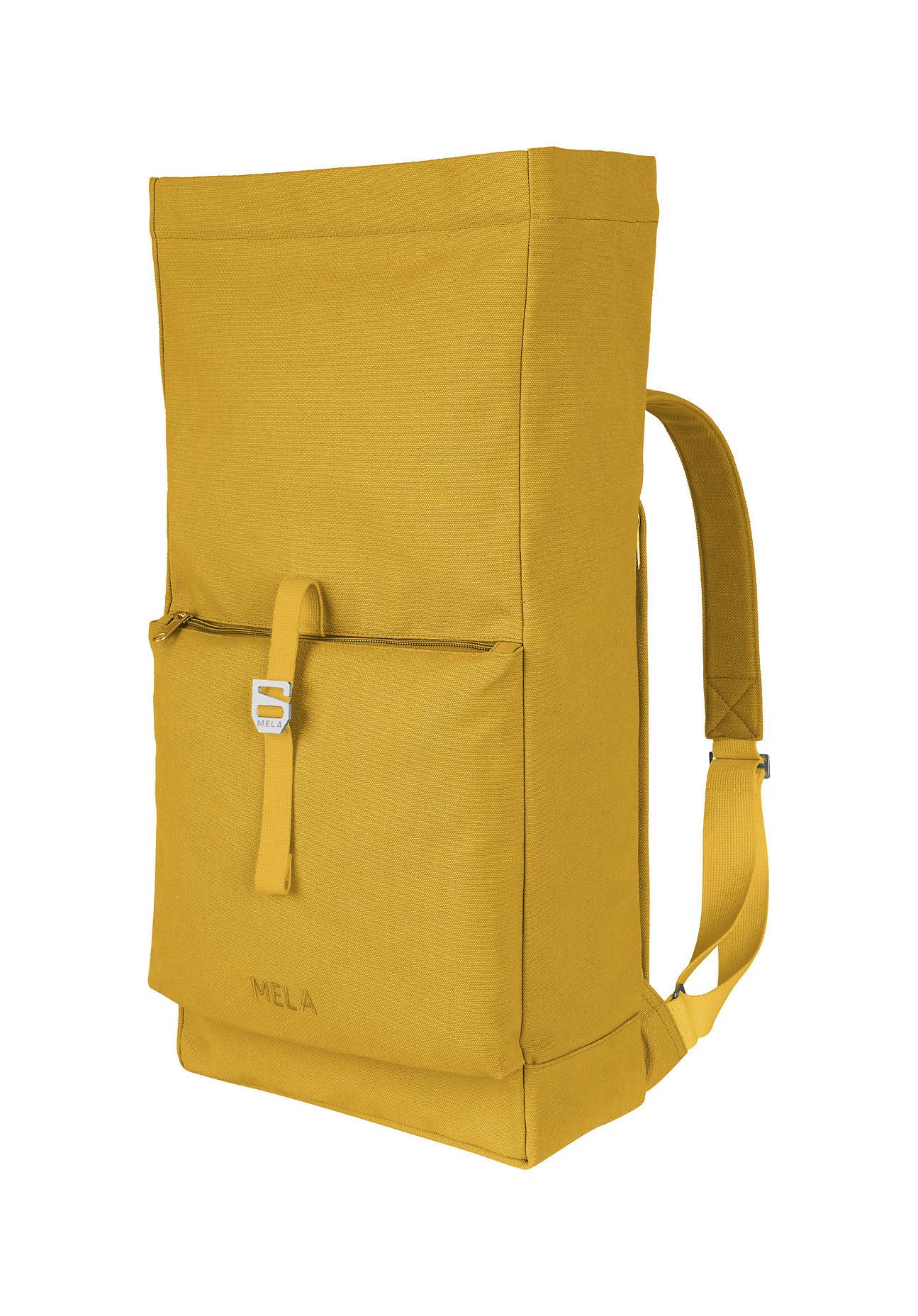 hessnatur Unisexaccessoires Rucksack Amar aus Bio-Baumwolle - gelb Größe 1size