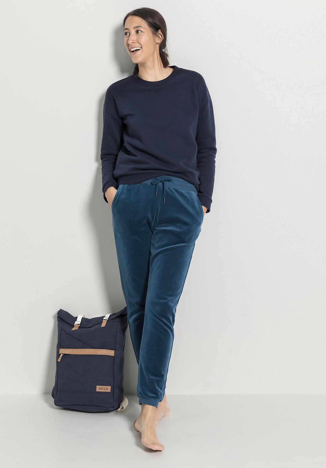 hessnatur Damen Rucksack Ansvar aus Bio-Baumwolle - blau Größe One Size