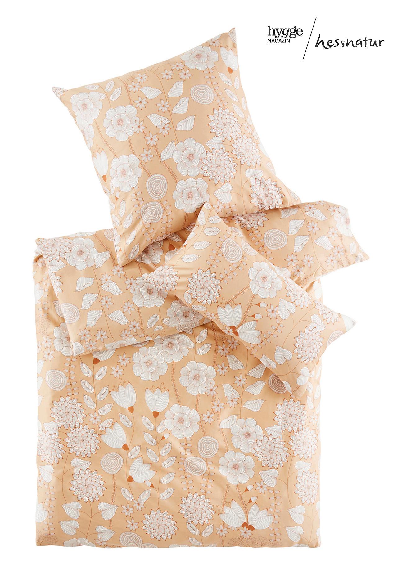 hessnatur Satin-Bettwäsche Akina aus Bio-Baumwolle – gelb – Größe 135x200+40x80 cm