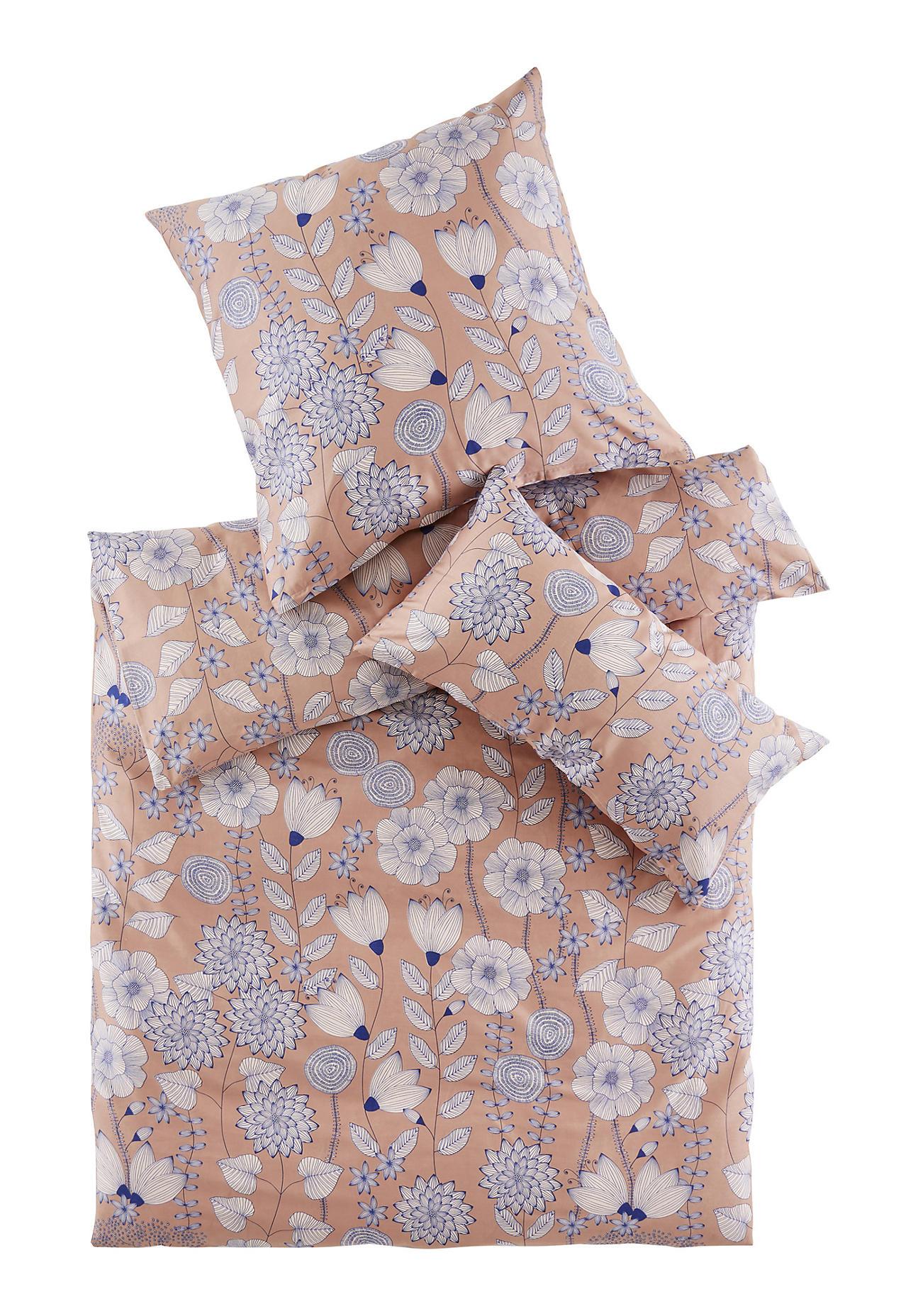 hessnatur Satin-Bettwäsche Akina aus Bio-Baumwolle – rosa – Größe 135x200+40x80 cm
