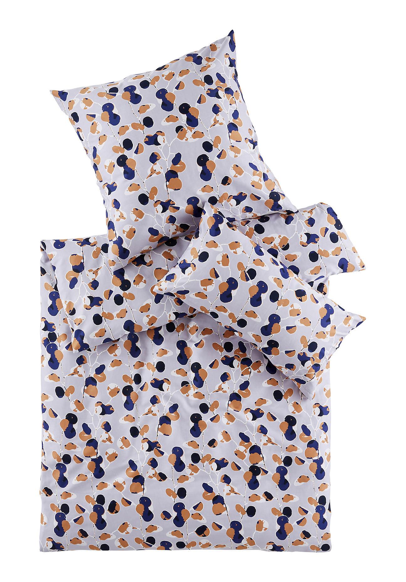 hessnatur Satin-Bettwäsche Rami aus Bio-Baumwolle – lila – Größe 135x200+40x80 cm