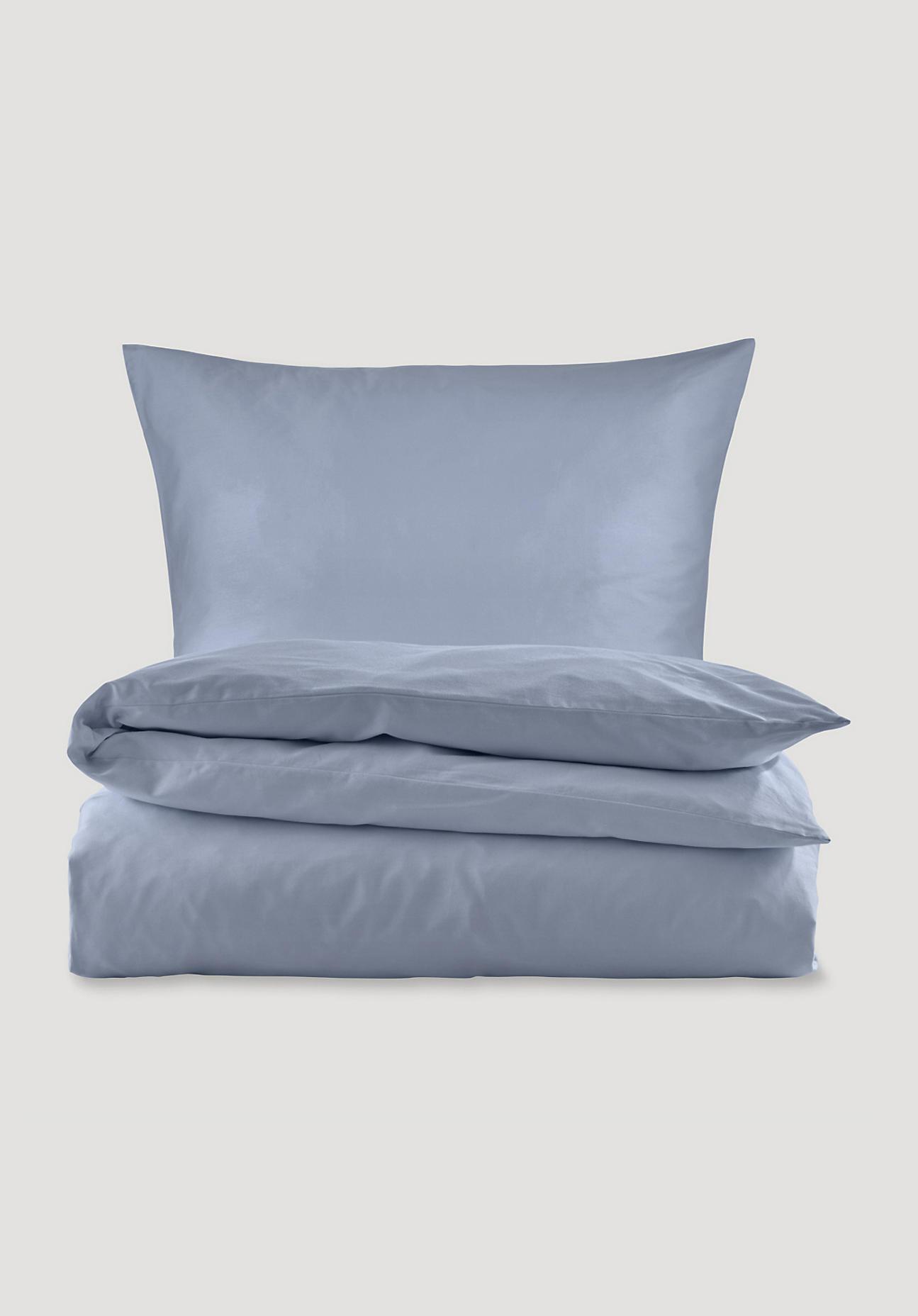 hessnatur Satin-Bettwäsche aus Bio-Baumwolle - blau Größe 135x200+40x80 cm