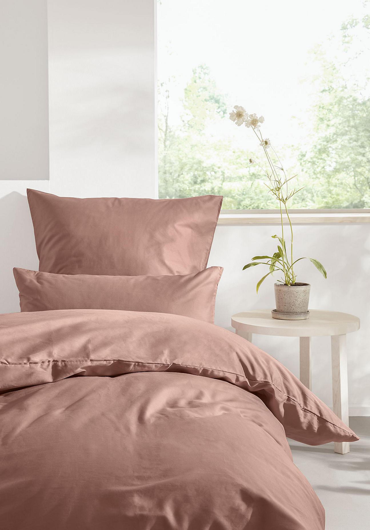 hessnatur Satin-Bettwäsche aus Bio-Baumwolle - rosa Größe 155x220+40x80 cm