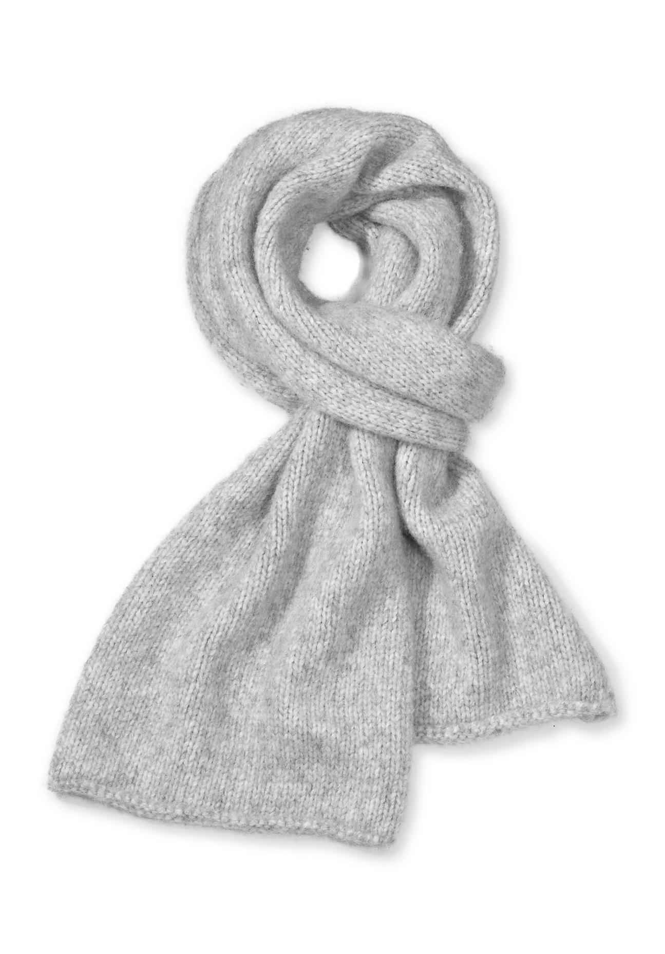 Schals für Frauen - hessnatur Damen Schal aus Alpaka mit Baumwolle und Schurwolle – grau –  - Onlineshop Hessnatur