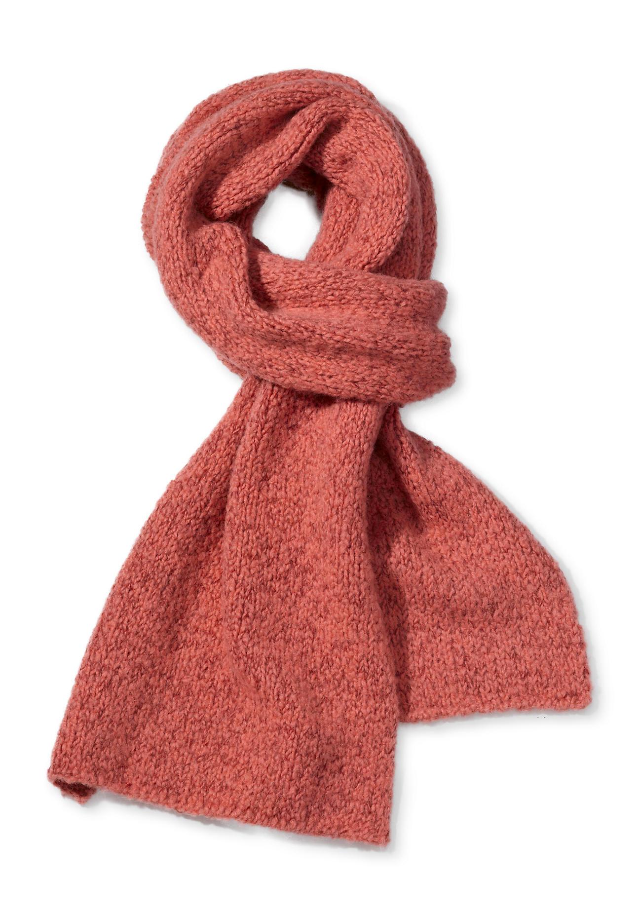 Schals für Frauen - hessnatur Damen Schal aus Schurwolle mit Alpaka und Bio Baumwolle – orange –  - Onlineshop Hessnatur