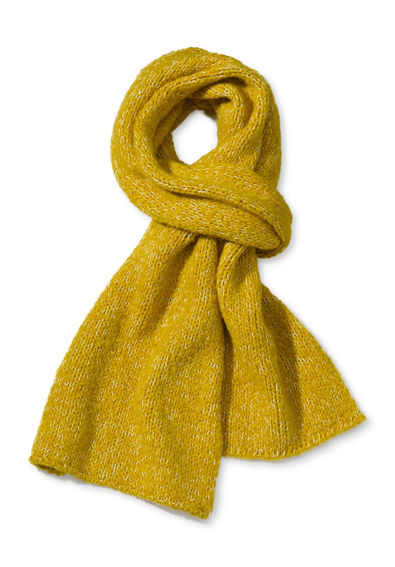 Schals für Frauen - hessnatur Damen Schal aus Schurwolle mit Alpaka und Bio Baumwolle – gelb –  - Onlineshop Hessnatur
