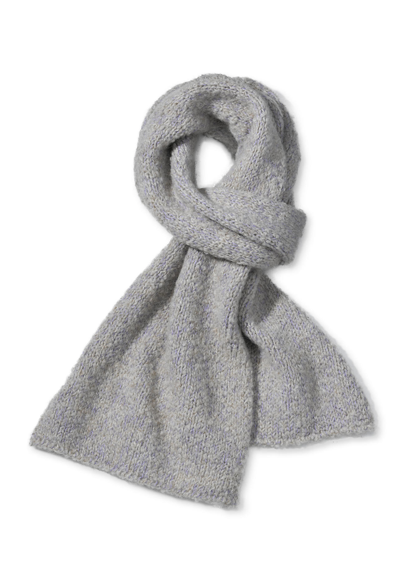 hessnatur -  Damen Schal aus Schurwolle mit Alpaka und Bio-Baumwolle – lila – Größe 28x200cm