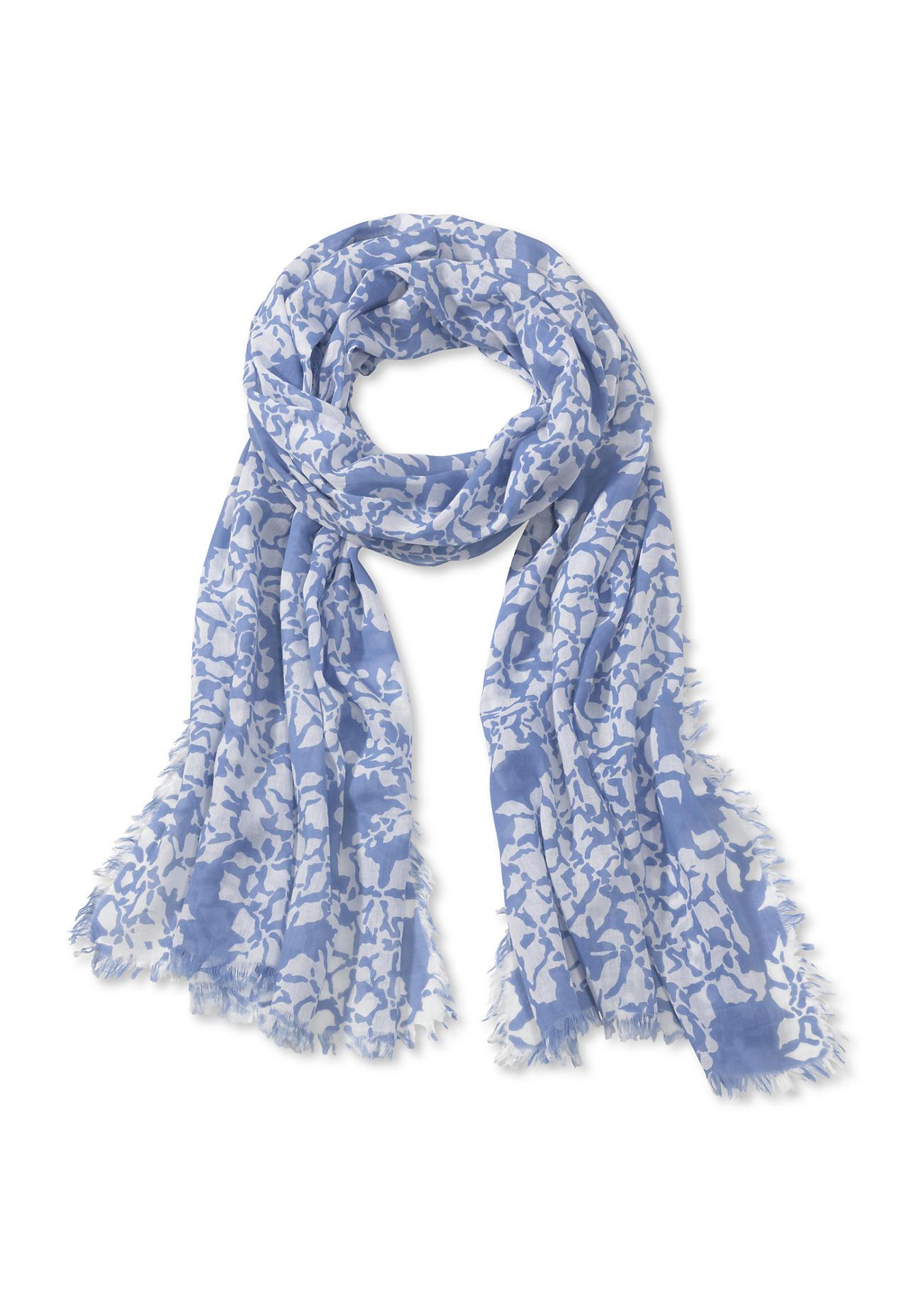 Schals für Frauen - hessnatur Damen Schal aus Bio Baumwolle – blau –  - Onlineshop Hessnatur