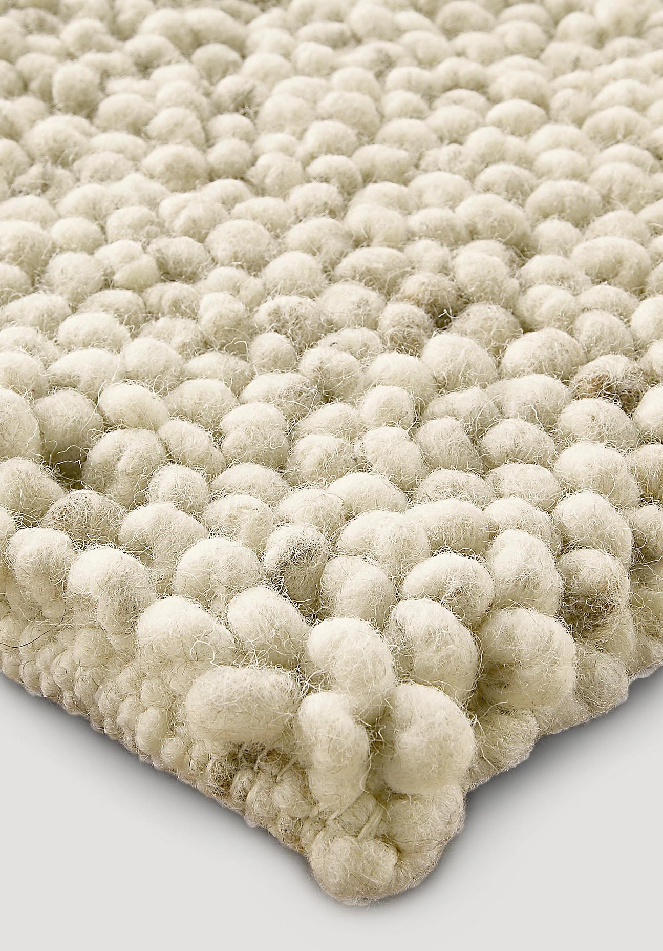 hessnatur Schlingenteppich Rhönschaf aus Schurwolle – beige – Größe 70x140 cm