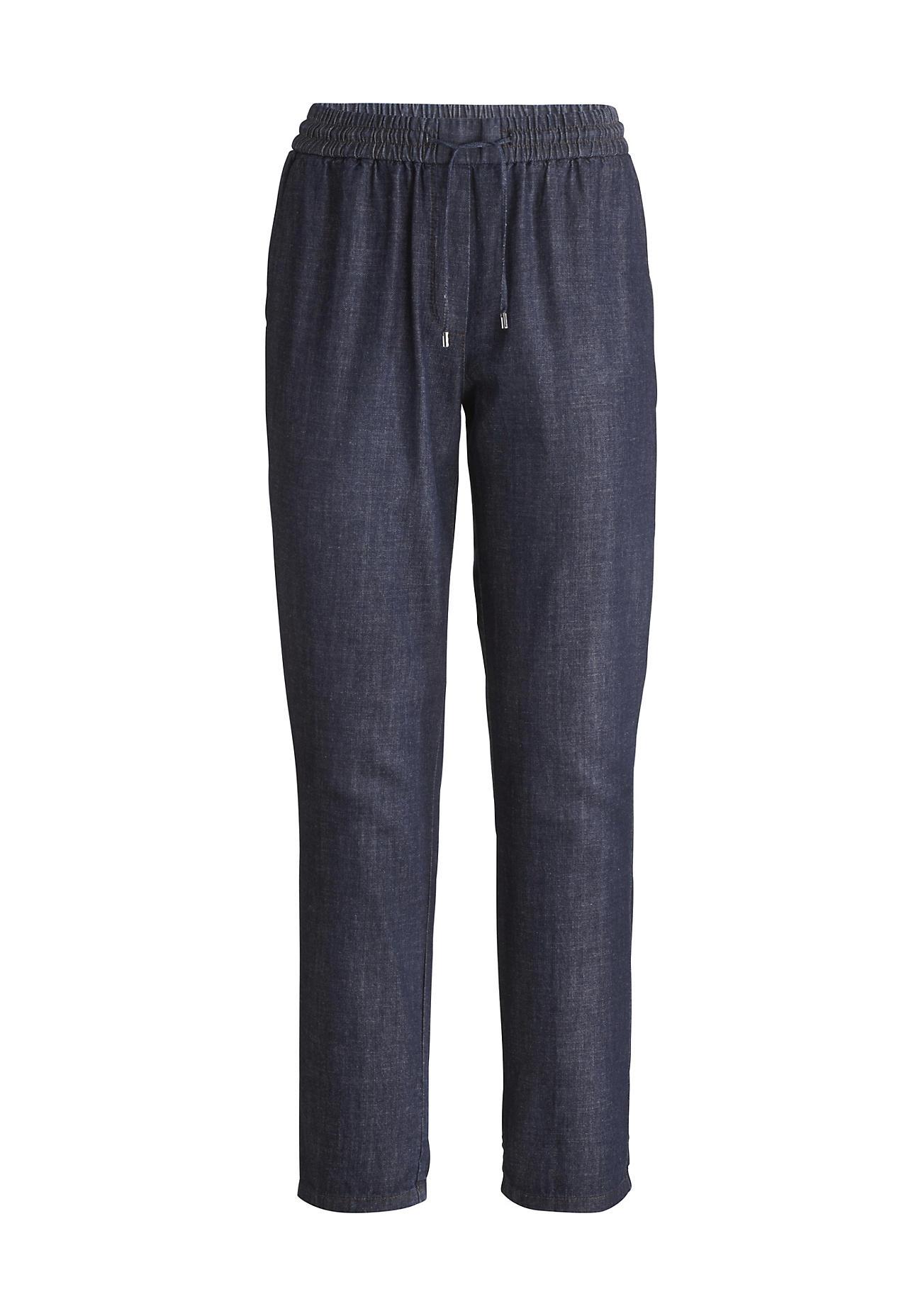 Hosen für Frauen - hessnatur Damen Schlupf Jeans aus Bio Denim – blau –  - Onlineshop Hessnatur
