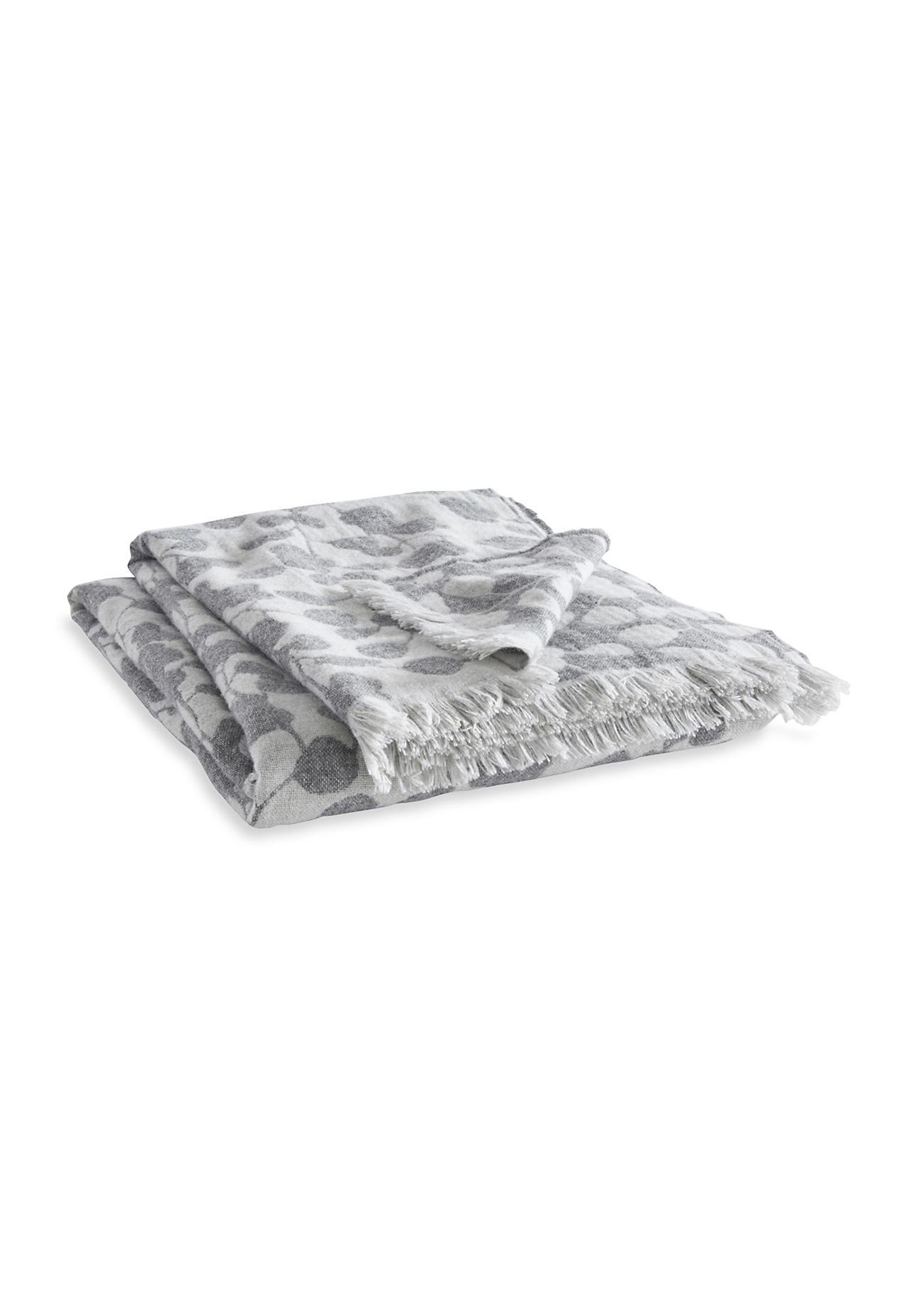 hessnatur Schurwoll-Decke Rami aus Merinowolle – grau – Größe 130x180 cm