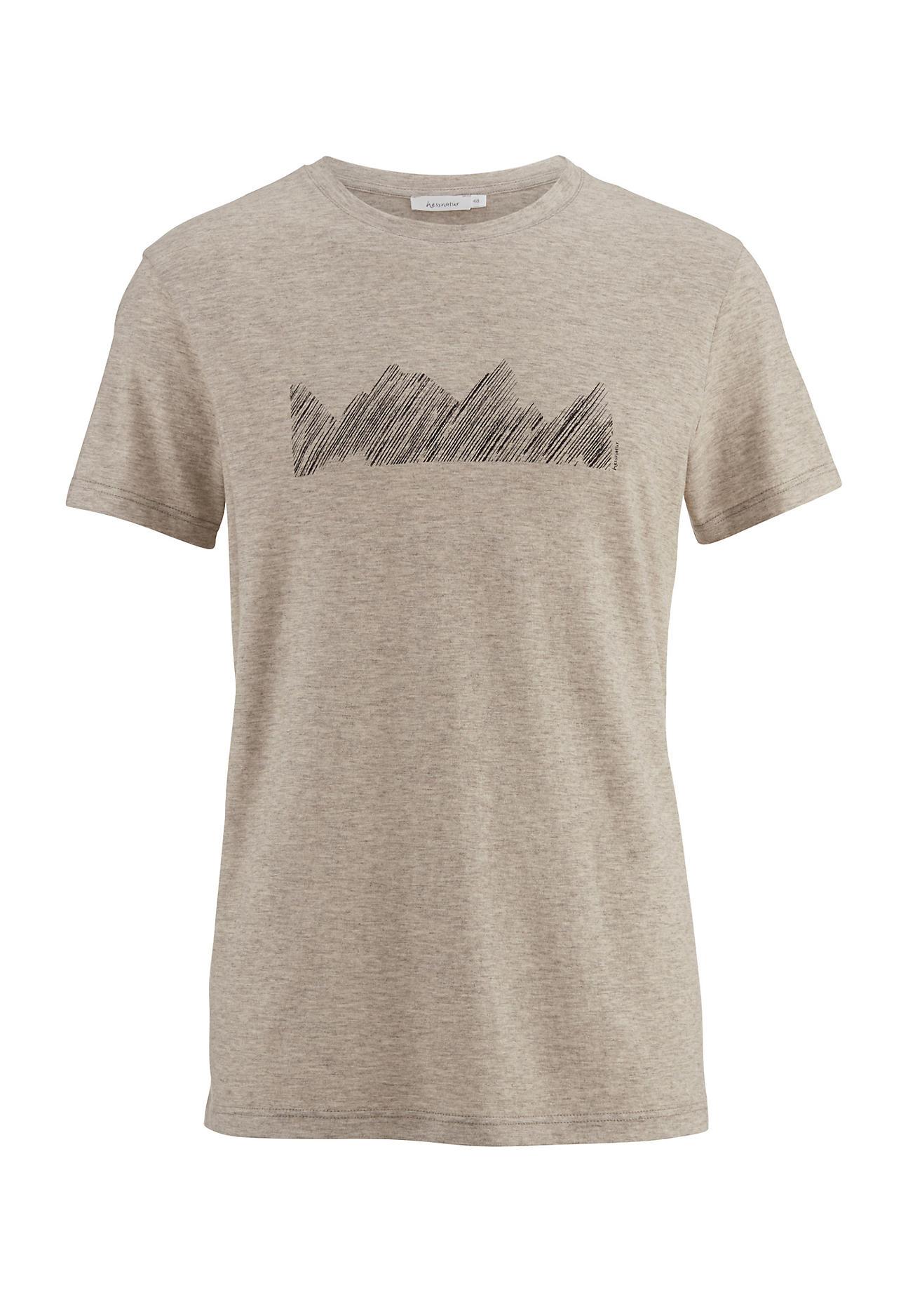 hessnatur -  Herren-Outdoor Shirt aus Bio-Baumwolle mit Yak – beige – Größe 56