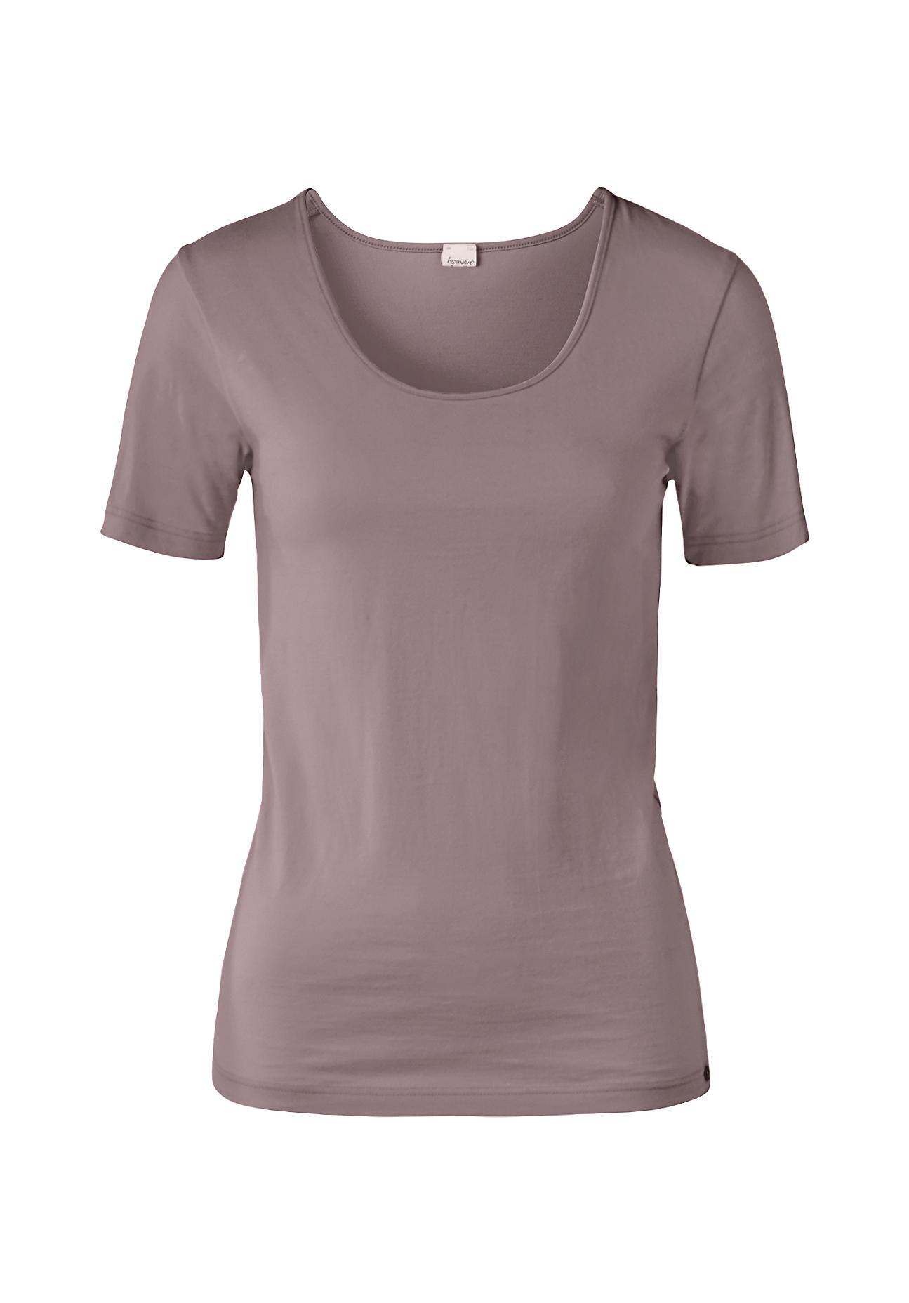 hessnatur Damen Shirt aus Bio Baumwolle und Modal – lila – Größe 38