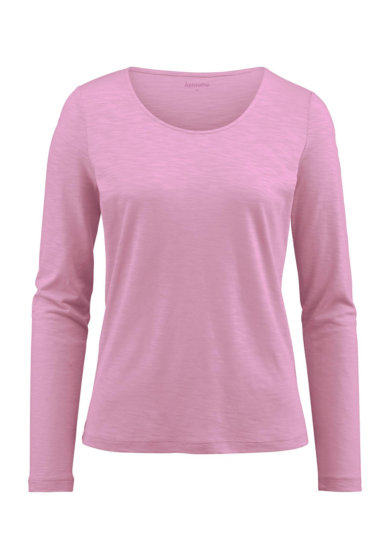 hessnatur Damen Shirt aus Bio Baumwolle und Modal – rosa – Größe 38