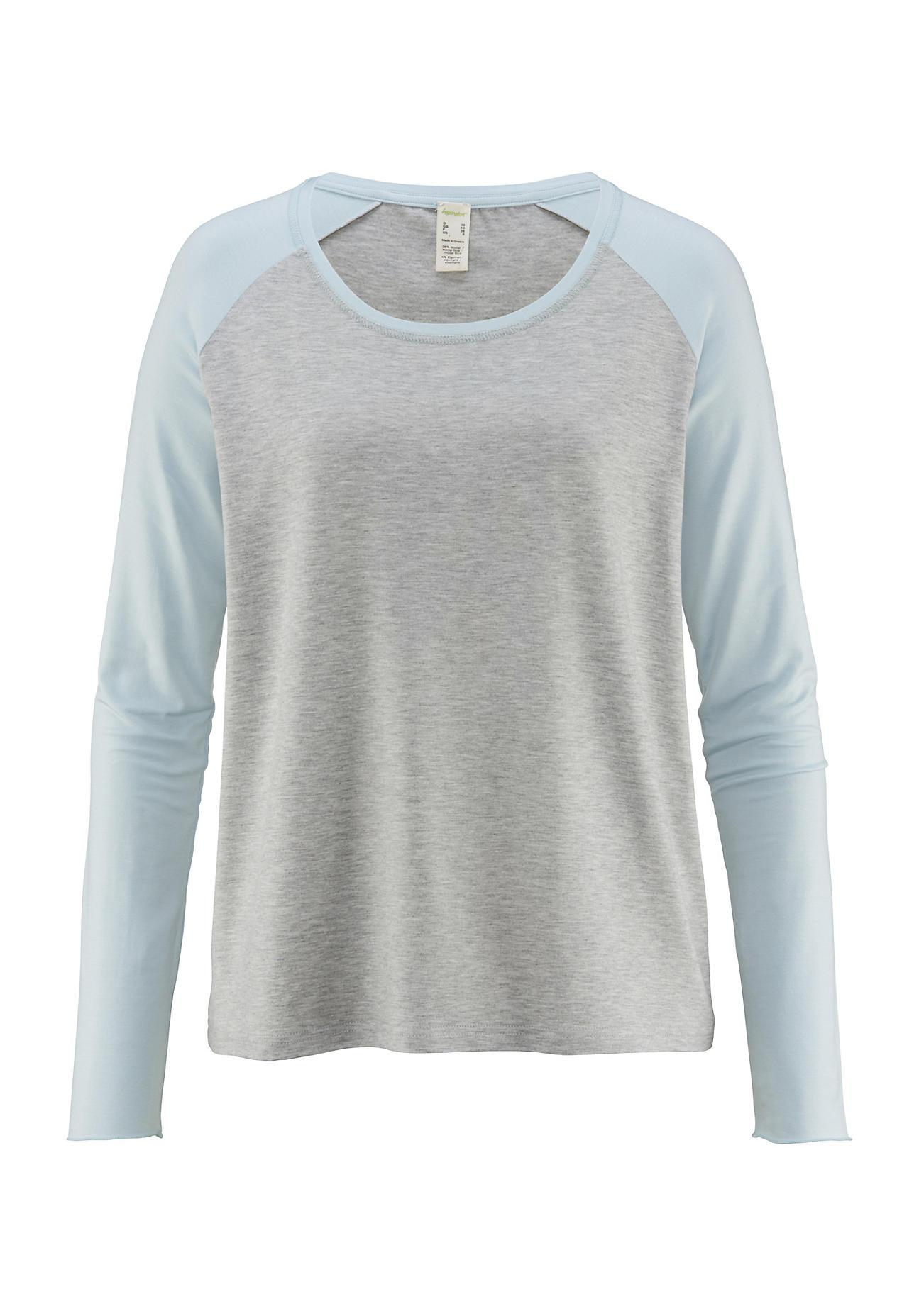 hessnatur Damen Shirt aus Modal – grau – Größe 38
