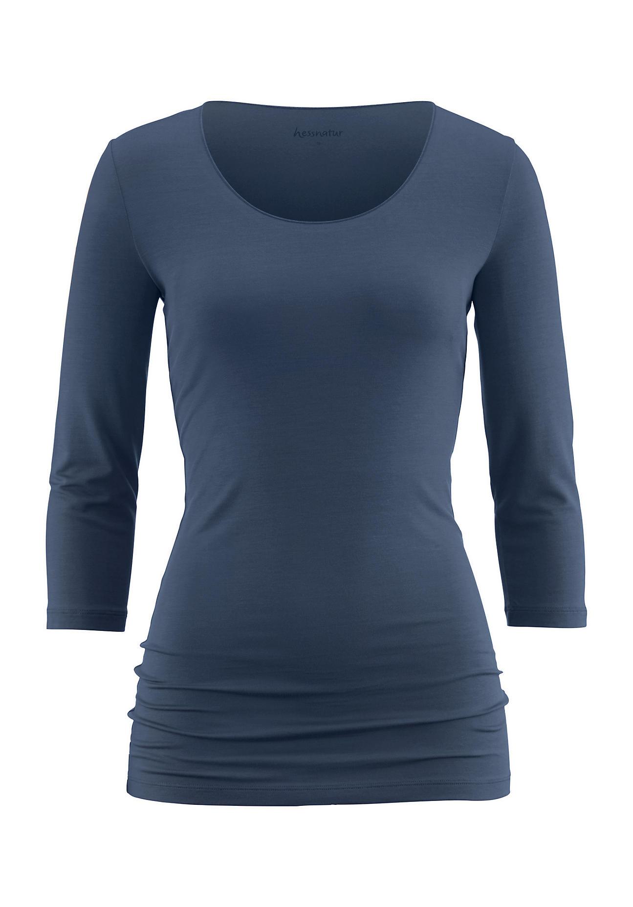 hessnatur Damen Shirt aus Modal – blau – Größe 38