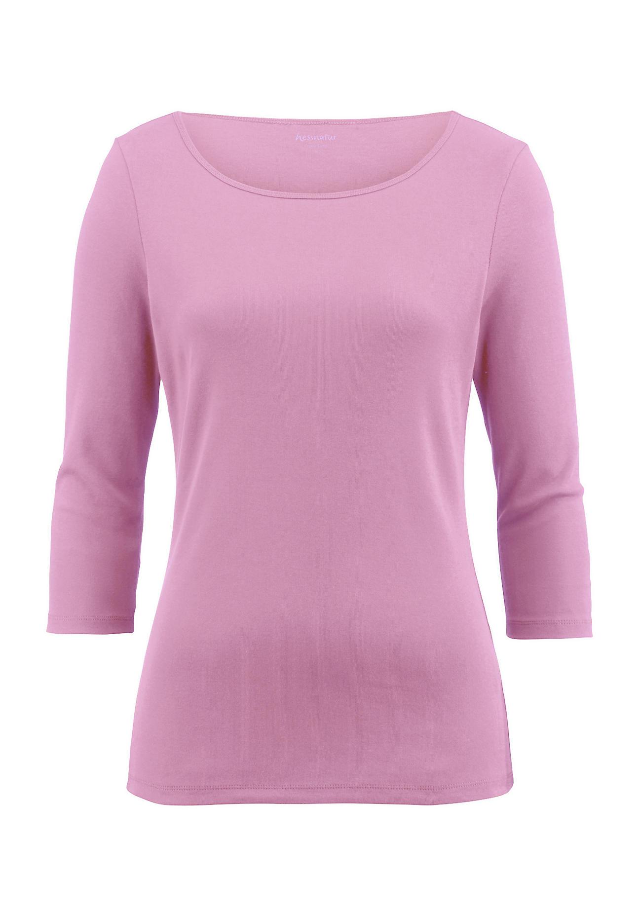 hessnatur Damen Shirt aus Bio Baumwolle – rosa – Größe 38
