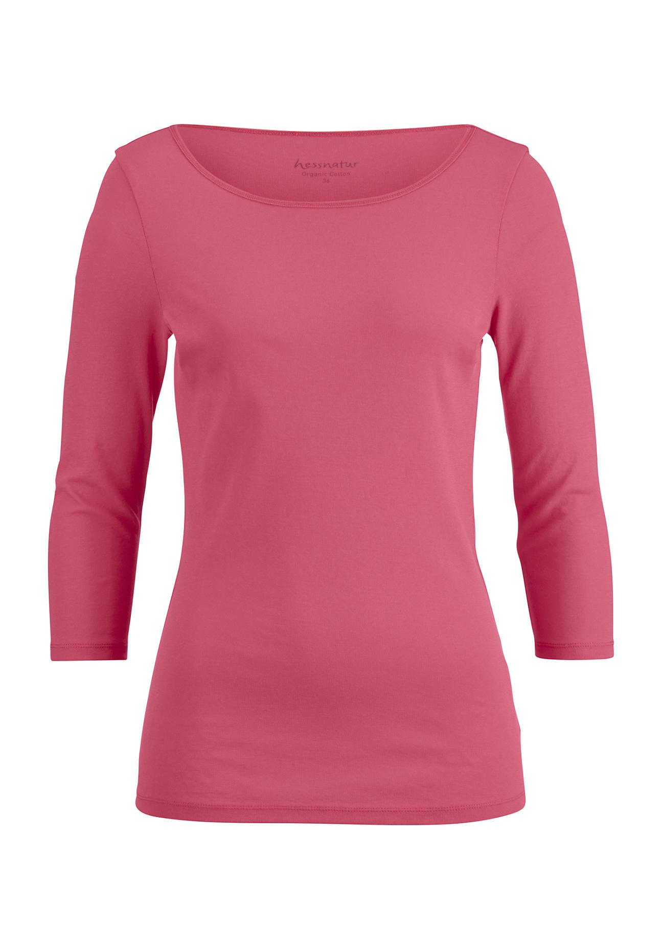 hessnatur -  Damen Shirt aus Bio-Baumwolle – rot – Größe 46