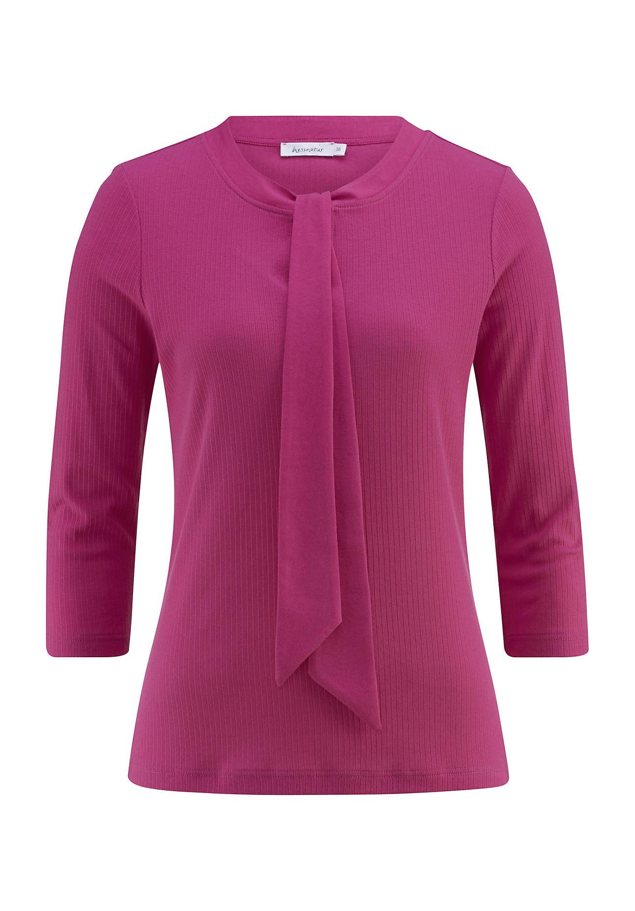 hessnatur Damen Shirt aus Bio Baumwolle – lila – Größe 38