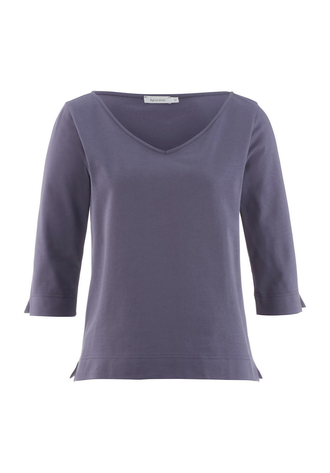 33e7260eec8d29 hessnatur Damen Shirt aus Bio-Baumwolle – lila – Größe 34