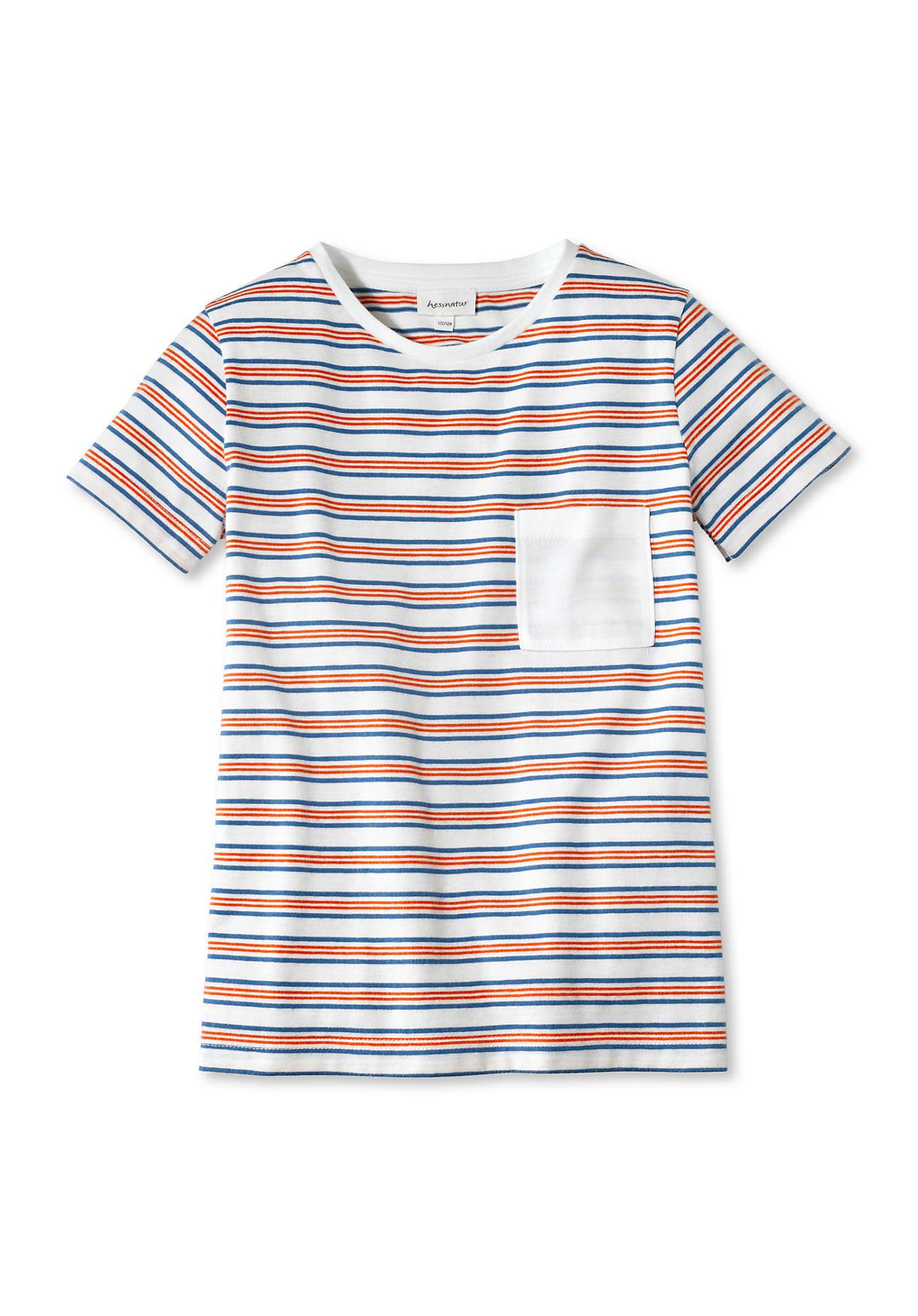 hessnatur Kinder Shirt aus Bio-Baumwolle – orange – Größe 158/164