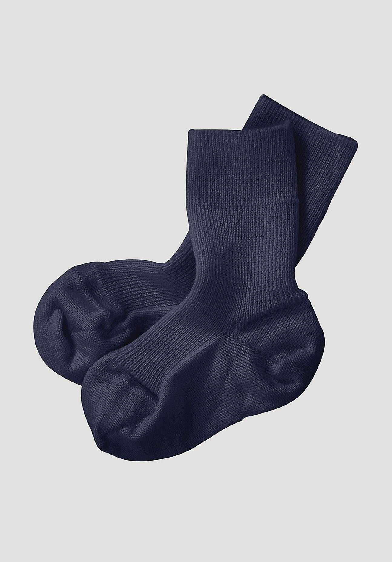 hessnatur Baby Socke aus Bio-Merinowolle - blau Größe 17-18
