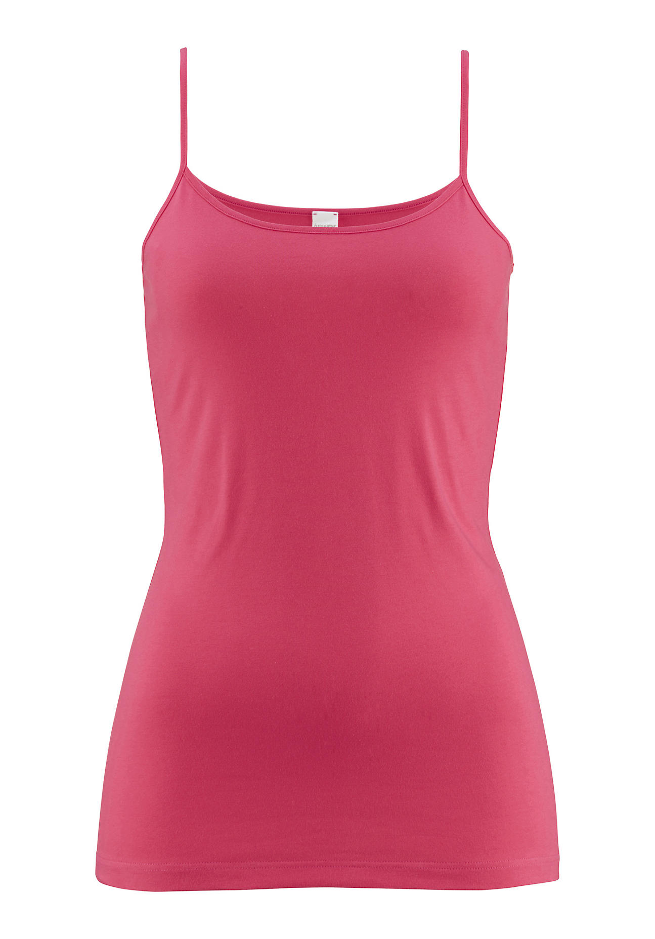 Waesche für Frauen - hessnatur Damen Spaghetti Shirt PureLUX aus Bio Baumwolle – rosa – Größe 38  - Onlineshop Hessnatur
