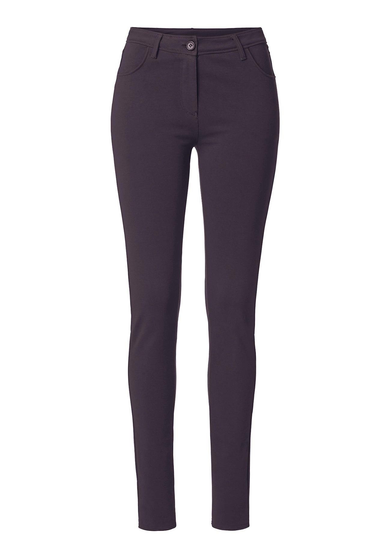 Hosen für Frauen - hessnatur Damen Stretch Hose aus Bio Baumwolle – lila –  - Onlineshop Hessnatur