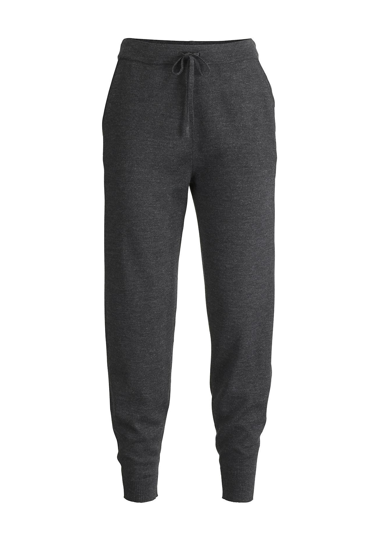 Hosen für Frauen - hessnatur Damen Strickhose aus Bio Merinowolle – schwarz –  - Onlineshop Hessnatur