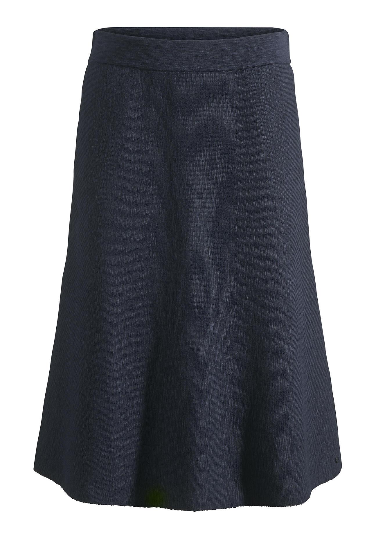hessnatur Damen Strickrock aus Bio Baumwolle – blau – Größe 38