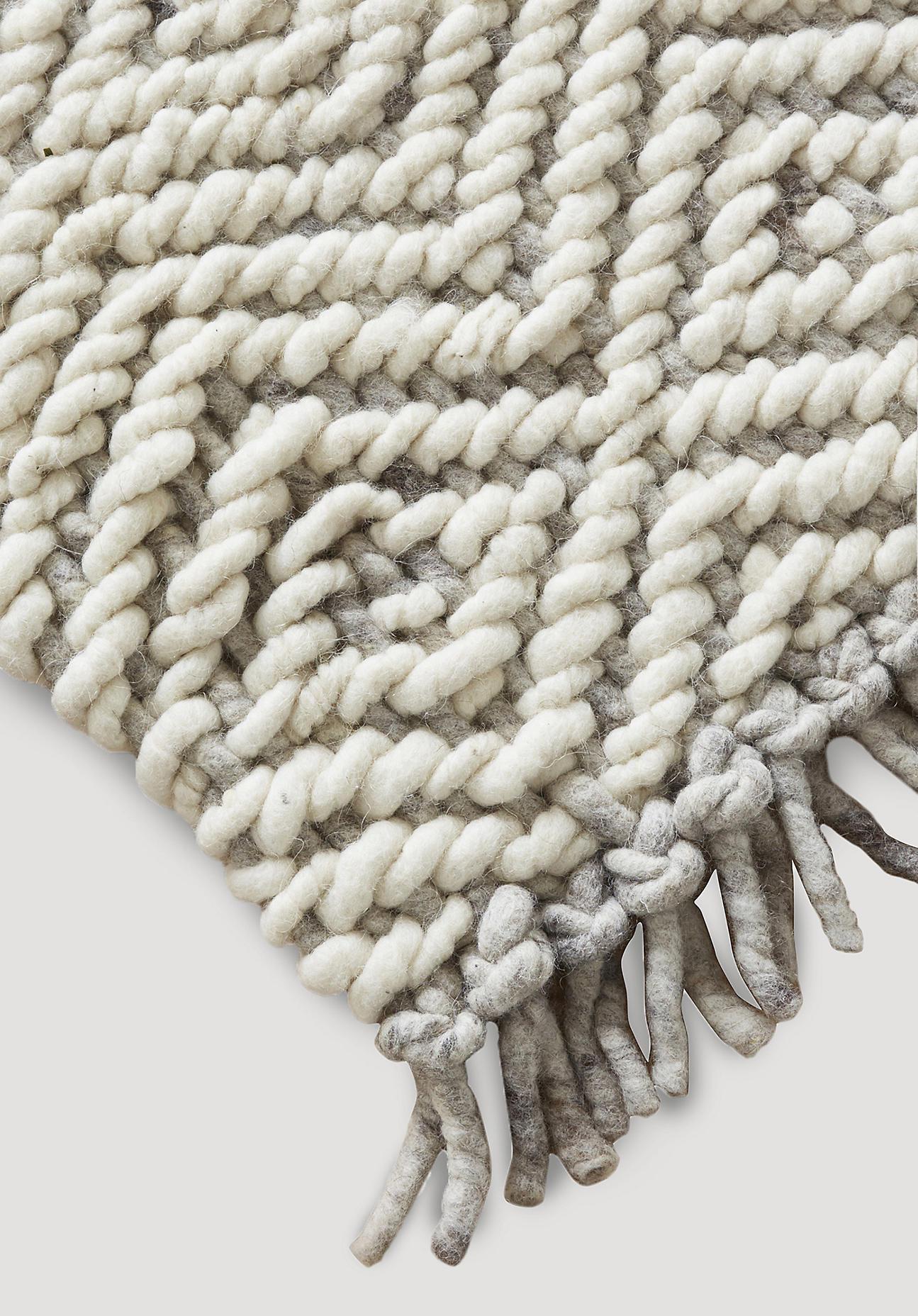 hessnatur Strukturteppich Deichschaf aus Schurwolle – naturfarben – Größe 70x140 cm