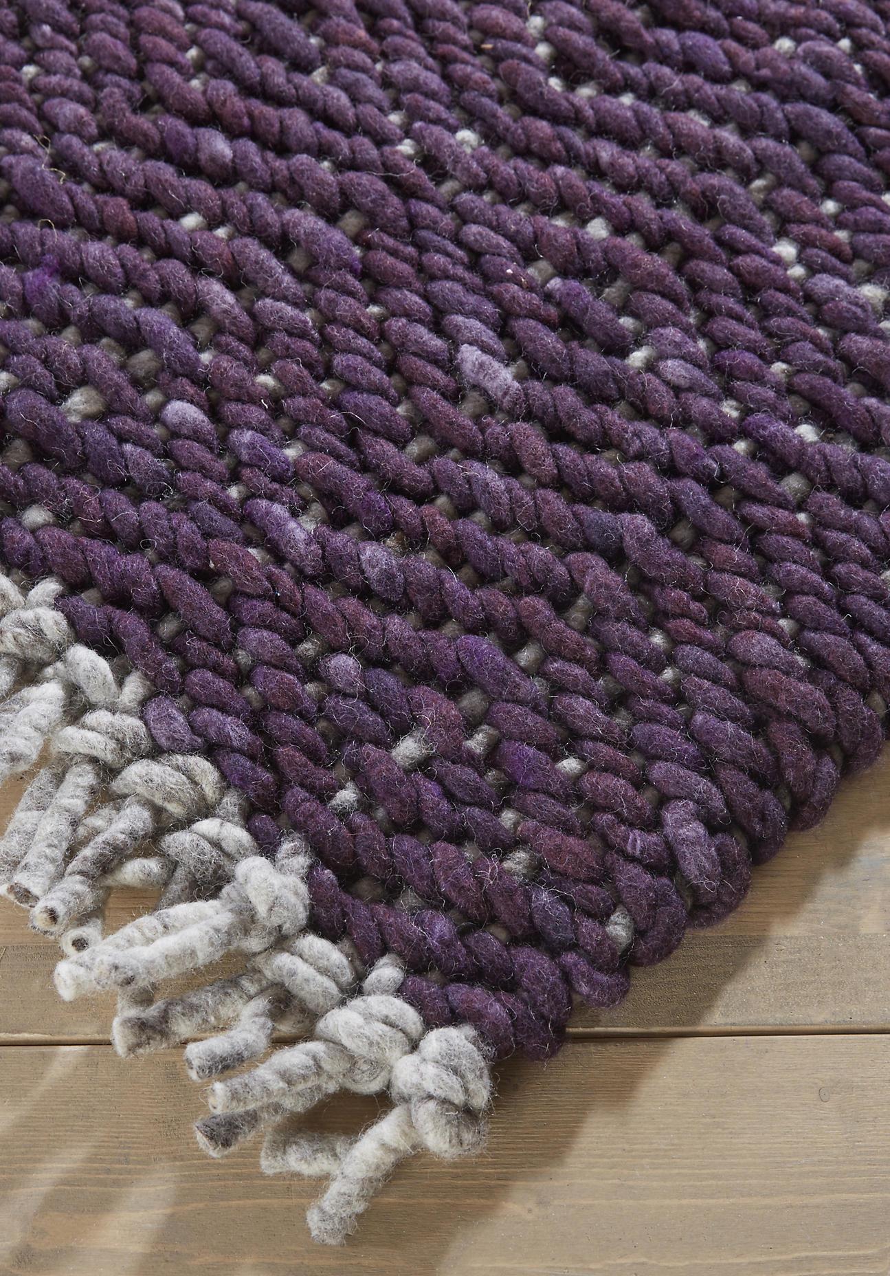 hessnatur Strukturteppich aus Schurwolle – braun – Größe 70x140 cm