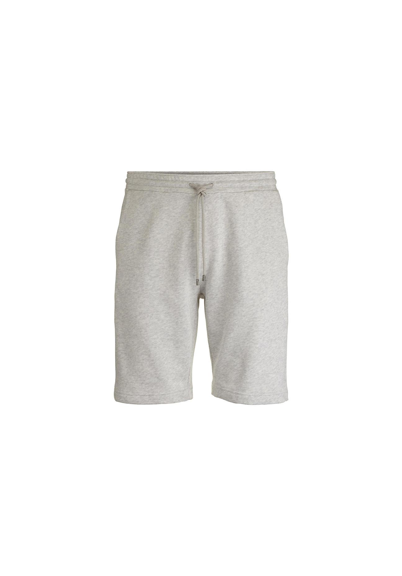 hessnatur Herren Sweat-Shorts aus Bio-Baumwolle – grau – Größe 48