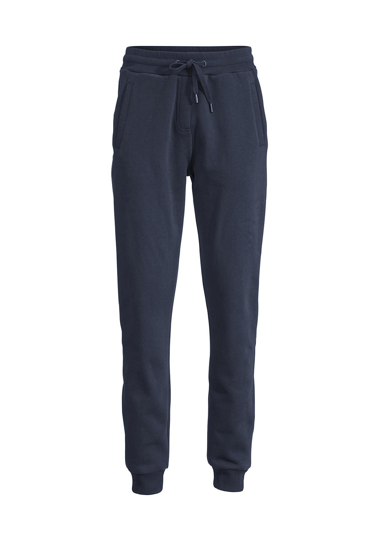 hessnatur Loungewear Sweathose aus Bio-Baumwolle – blau – Größe 36