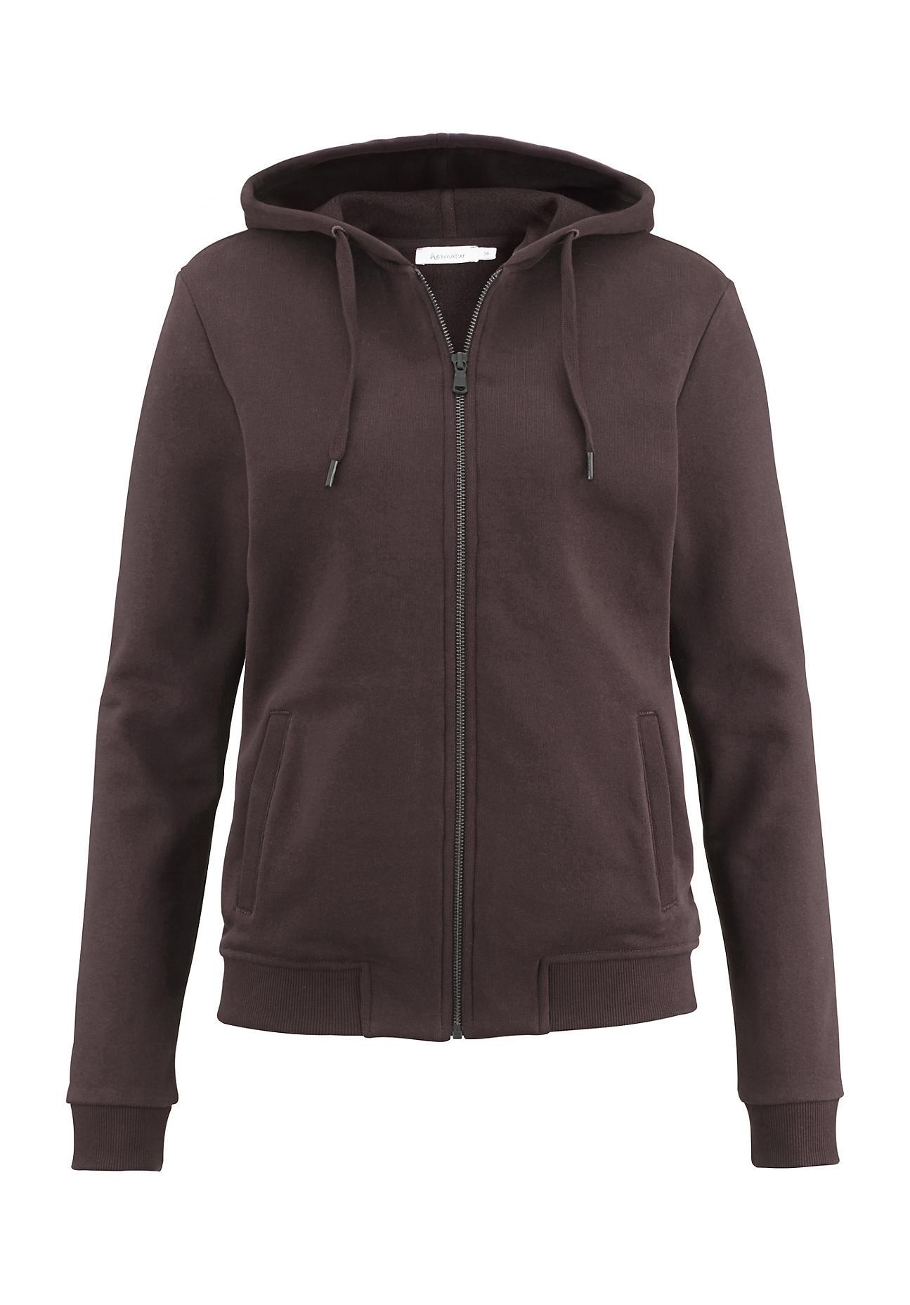 Image of hessnatur Loungewear Sweatjacke aus Bio-Baumwolle – rot – Größe 42