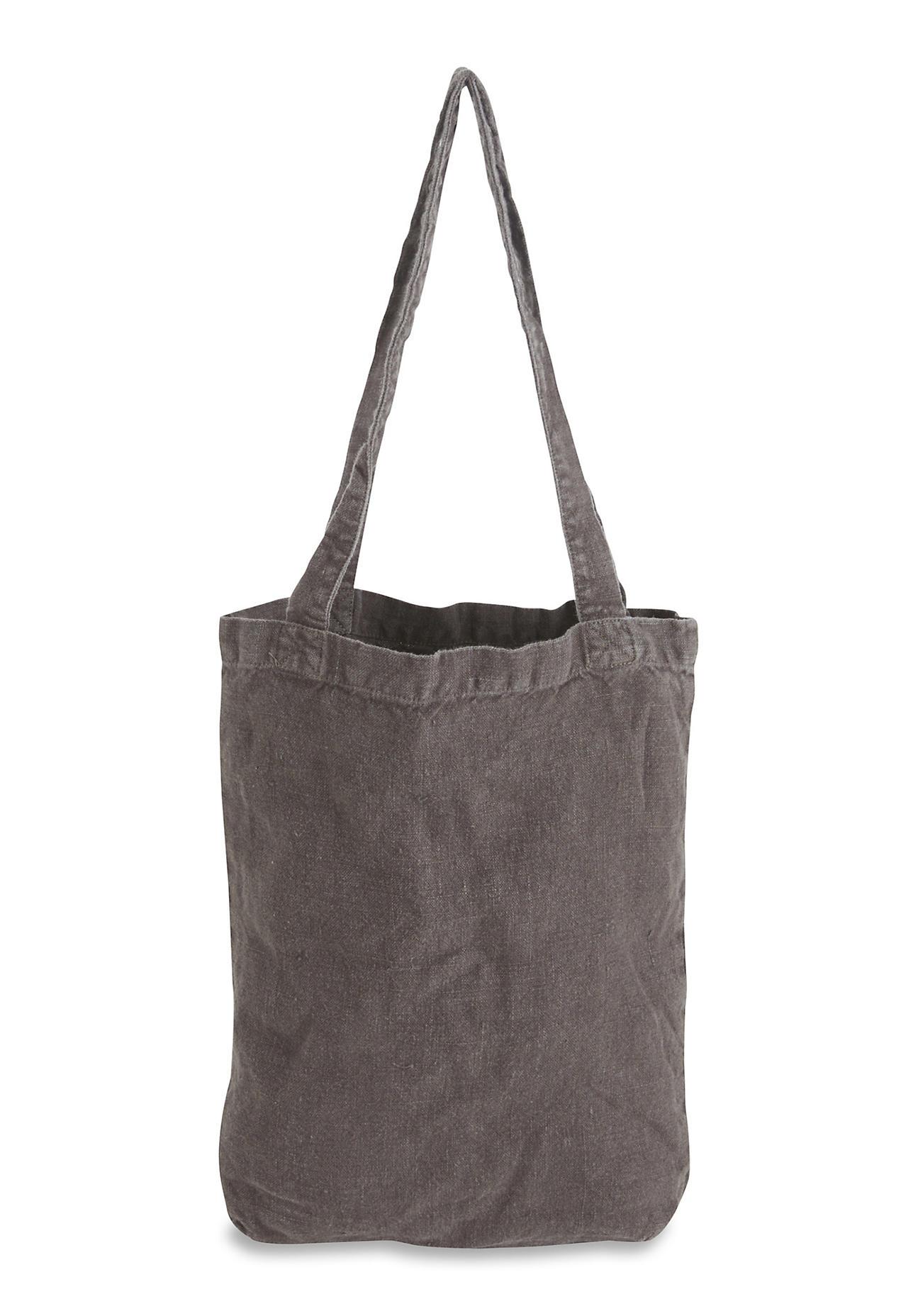hessnatur Damen Tasche aus Hessenleinen – grau – Größe 1size