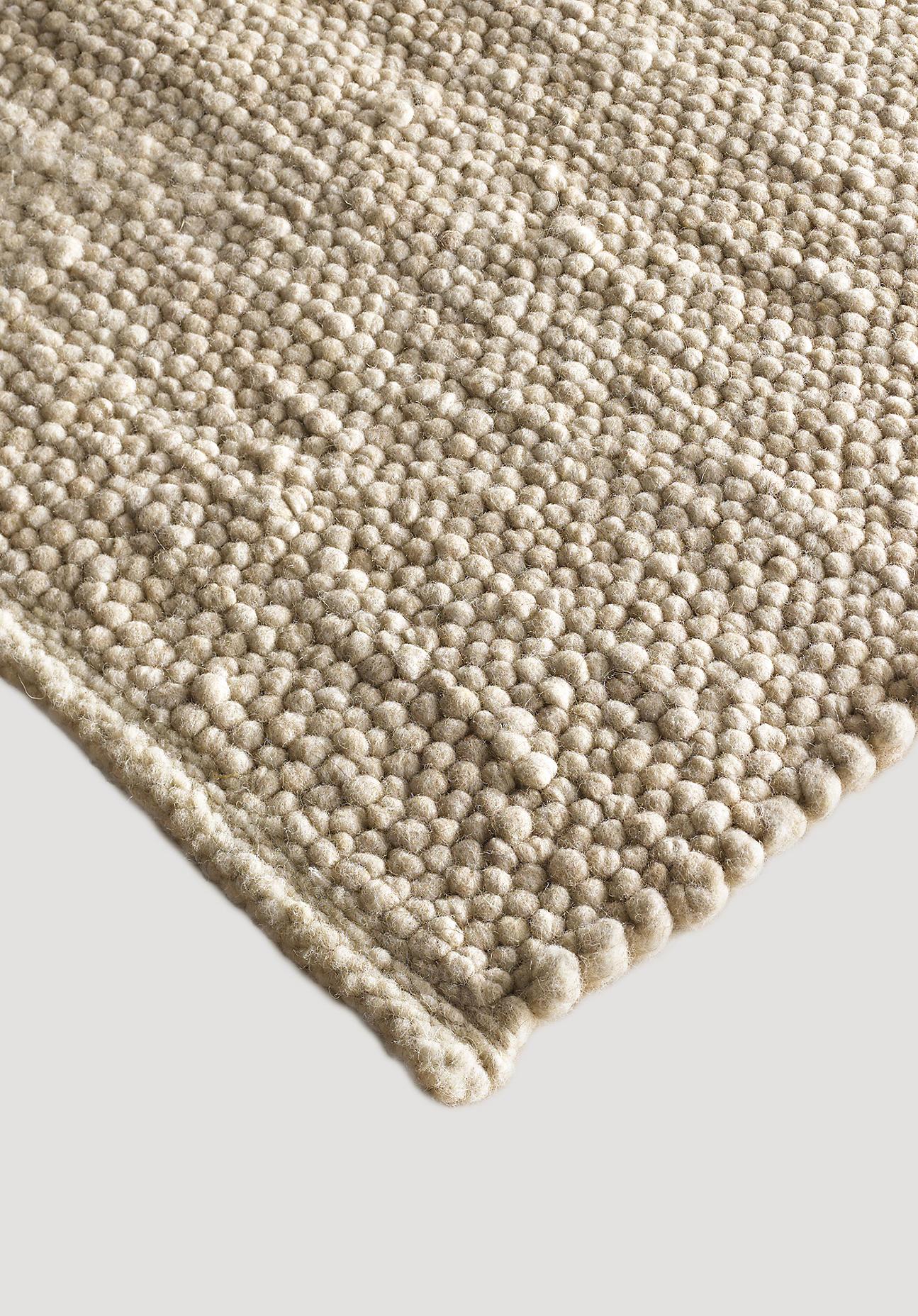 hessnatur Teppich Coburger Fuchs aus Bio-Schurwolle – beige – Größe 70x140 cm