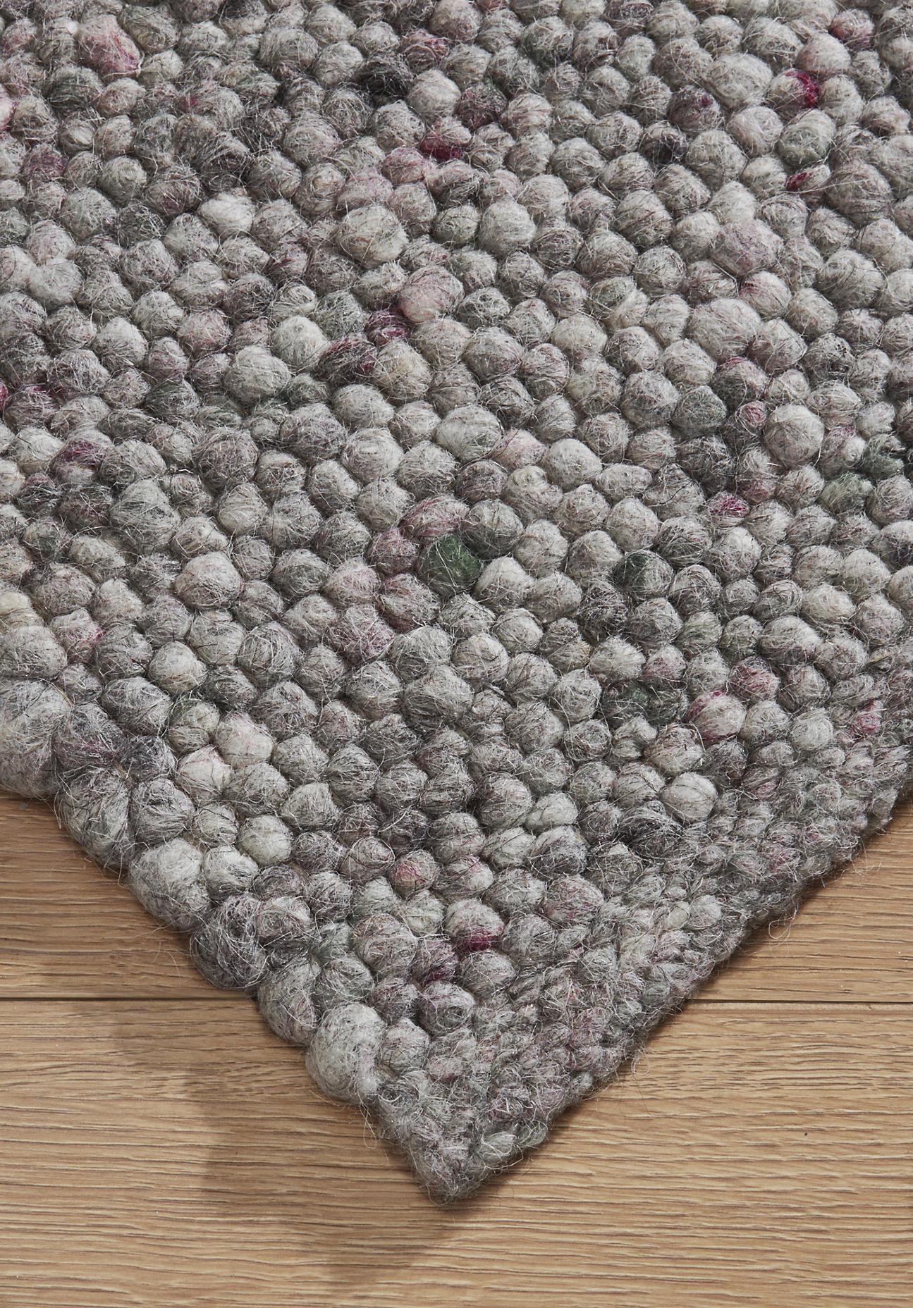 hessnatur Teppich Heidschnucke aus Schurwolle – grau – Größe 70x140 cm