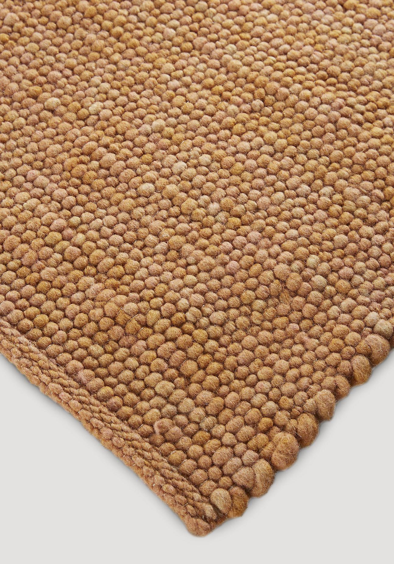 hessnatur Teppich Rhönschaf aus Schurwolle – braun – Größe 70x140 cm