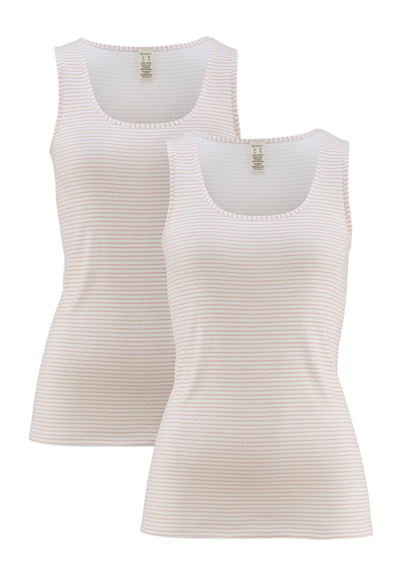 hessnatur Damen Top PureDAILY im 2er Set aus Bio Baumwolle – rosa – Größe 38