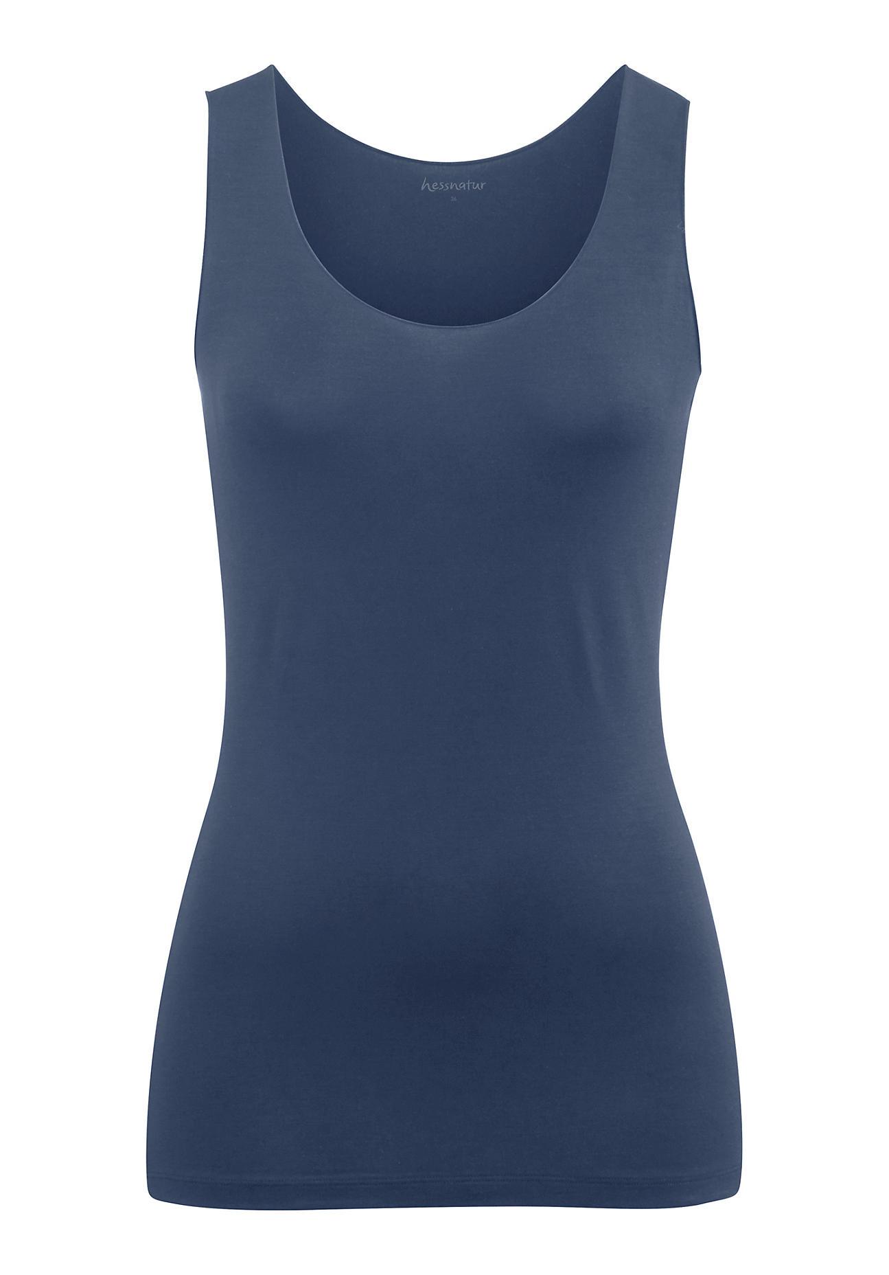 hessnatur Damen Top aus Modal – blau – Größe 38