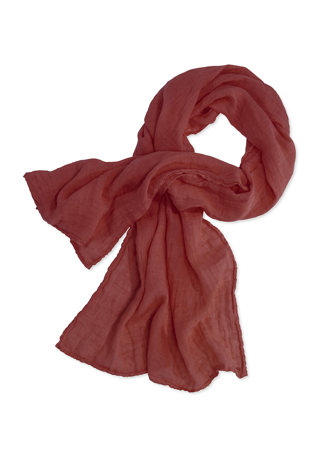 Schals für Frauen - hessnatur Damen Unisex Schal aus Leinen – orange –  - Onlineshop Hessnatur