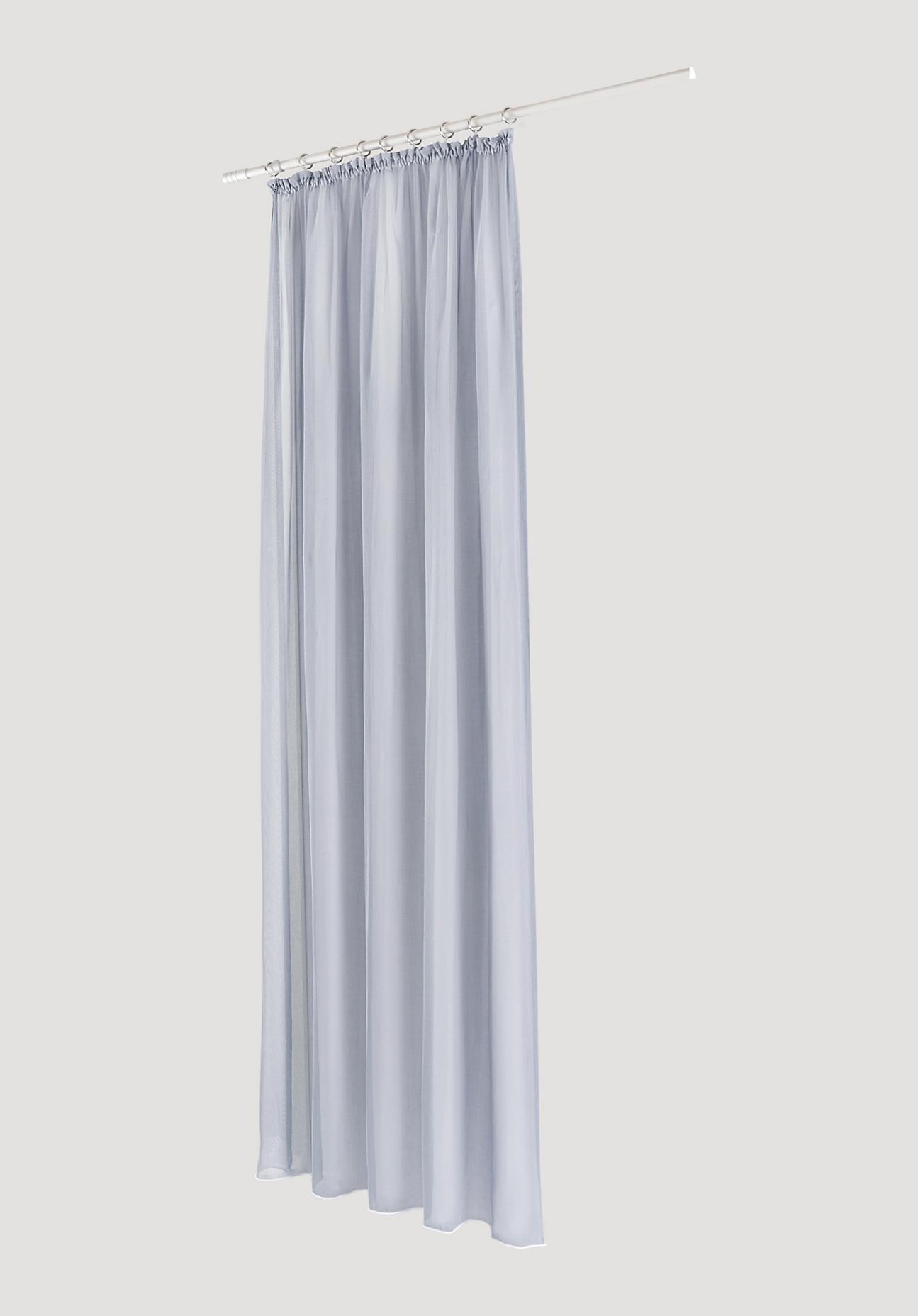 hessnatur Vorhang mit Gardinenband aus Bio-Baumwolle – blau – Größe 225x135cm
