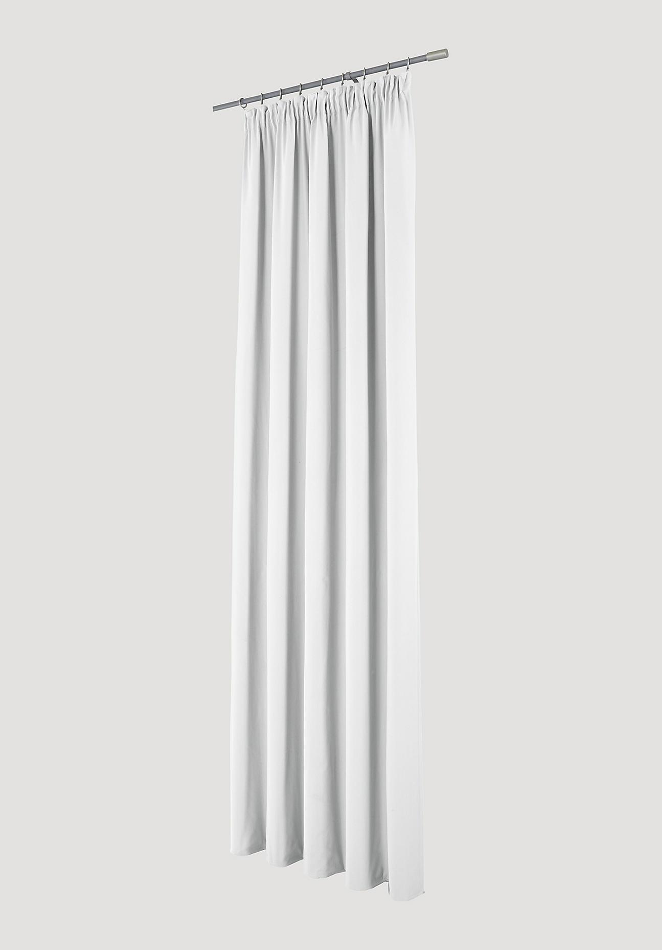 hessnatur Vorhang mit Faltenband aus Bio-Baumwolle – weiß – Größe 245x135cm